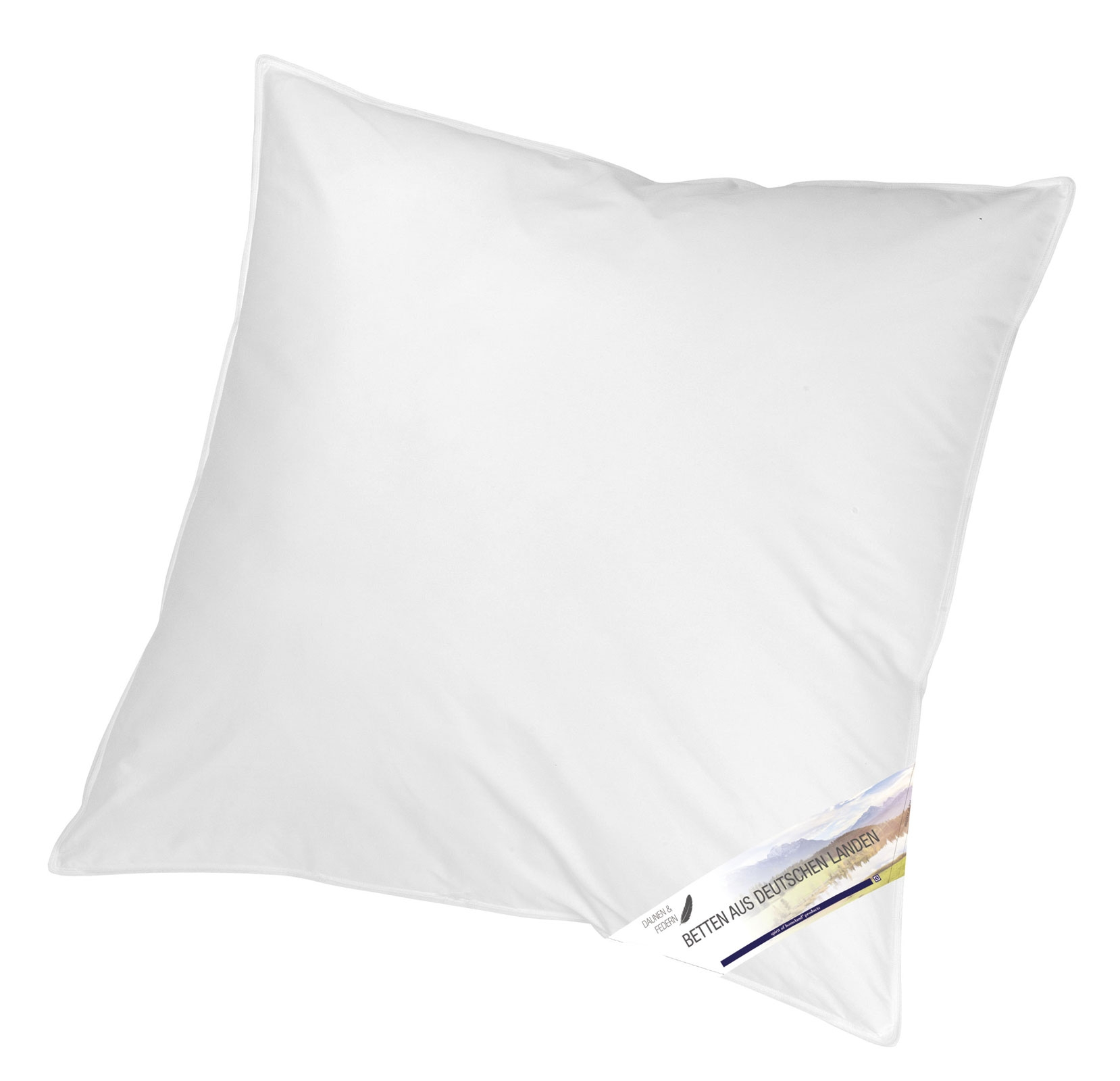 Bettdecken und Kopfkissen - 3 Kammer Kopfkissen Kissen 80x80 Betten aus Deutschen Landen von KBT Bettwaren  - Onlineshop PremiumShop321