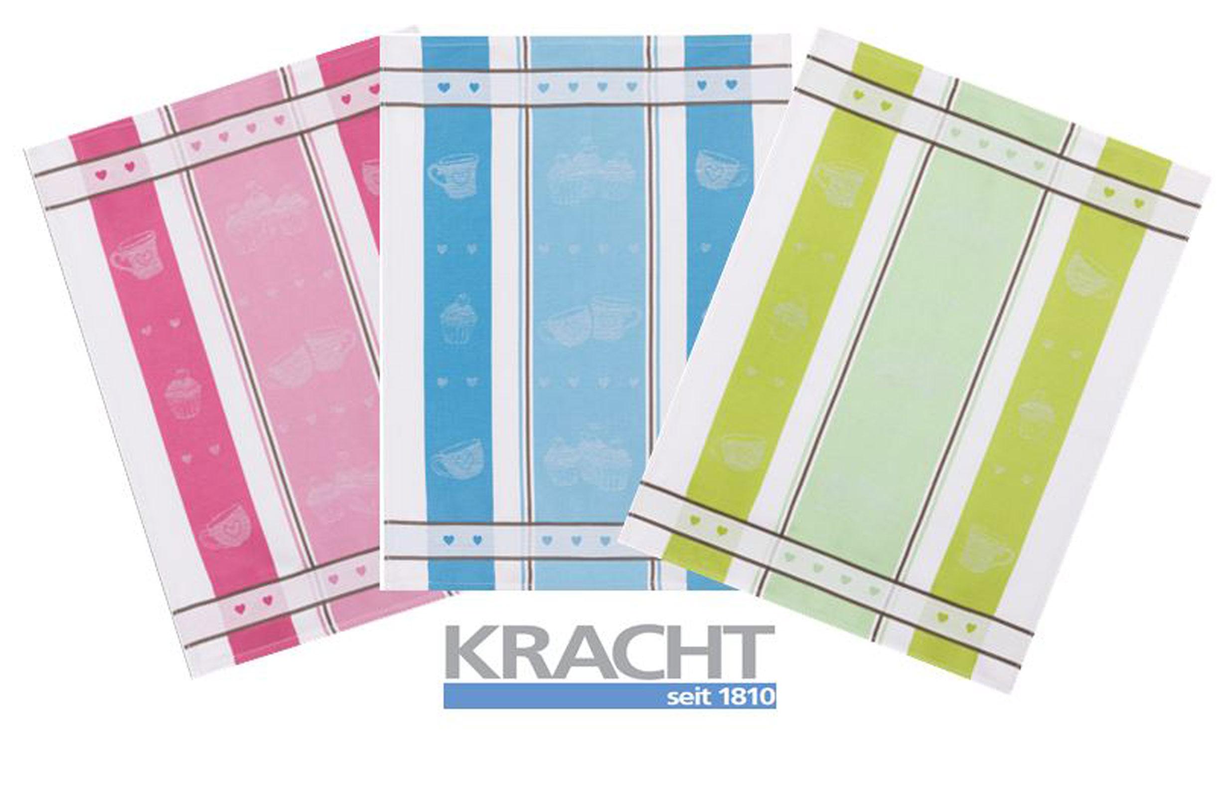 Küchentextilien - 3er Pack Kracht Halbleinen Geschirrtuch 50x70 farblich sortiert 2 250 70 Cupcakes  - Onlineshop PremiumShop321