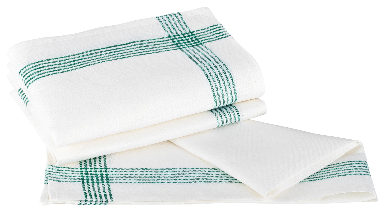 Küchentextilien - Kracht 3er Pack Geschirrtücher Gläsertücher 100 Leinen Reinleinen 50x70 Rahmen 2 263 16 weiß grün  - Onlineshop PremiumShop321