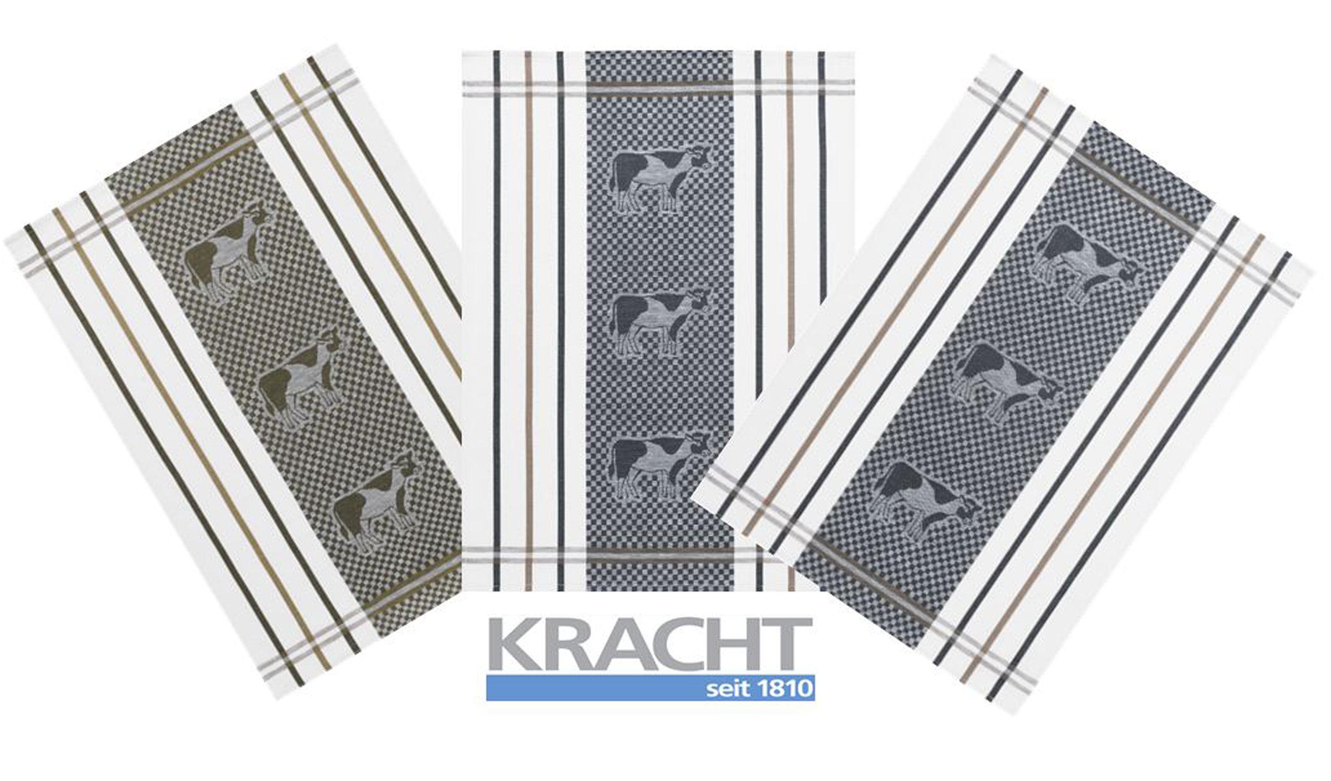 Küchentextilien - 3er Pack Kracht Halbleinen Geschirrtuch 50x70 Kühe 2 406  - Onlineshop PremiumShop321