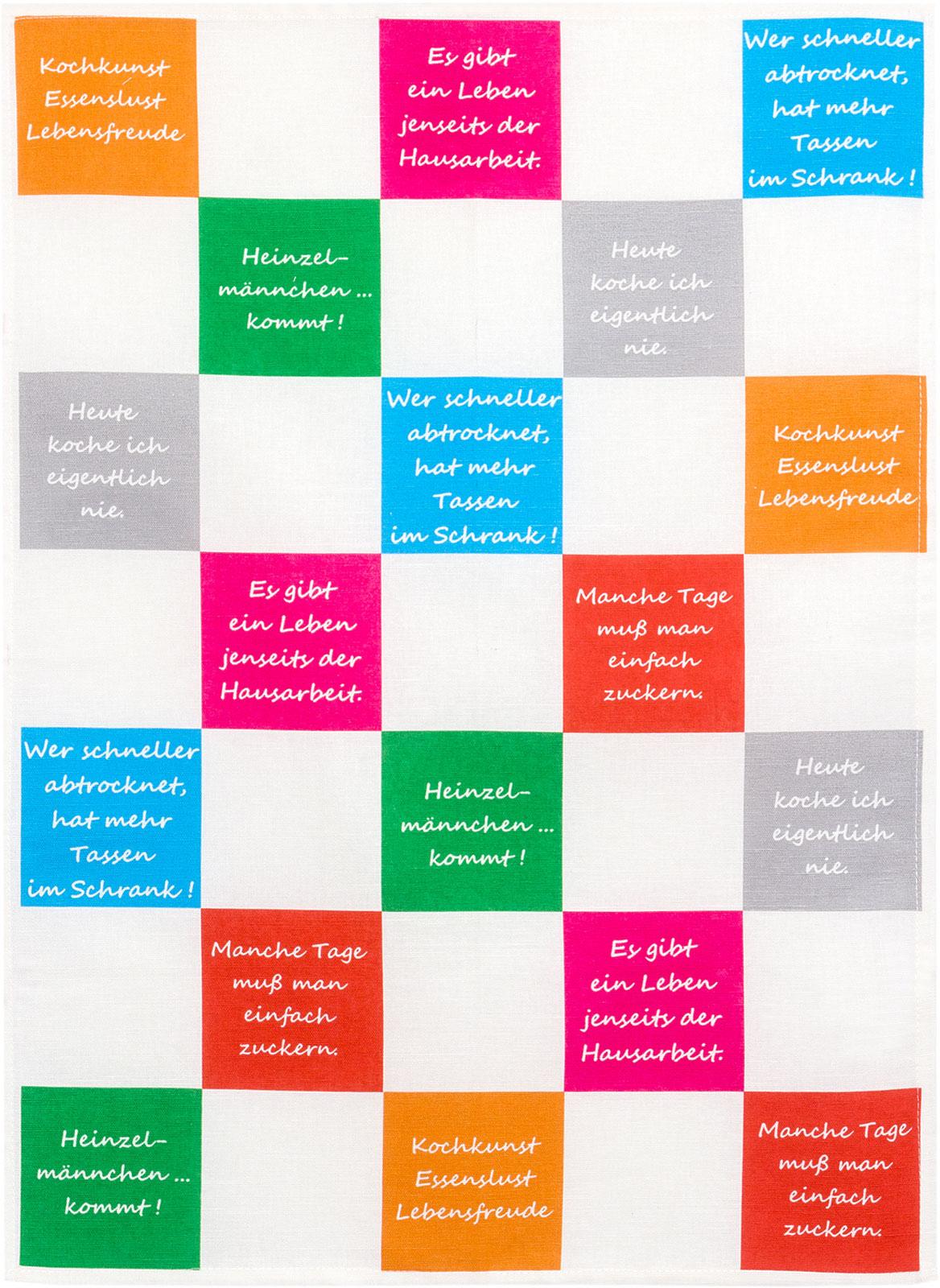Küchentextilien - Kracht Halbleinen Geschirrtuch 50x70 Motiv 2 844 00 Küchensprüche  - Onlineshop PremiumShop321