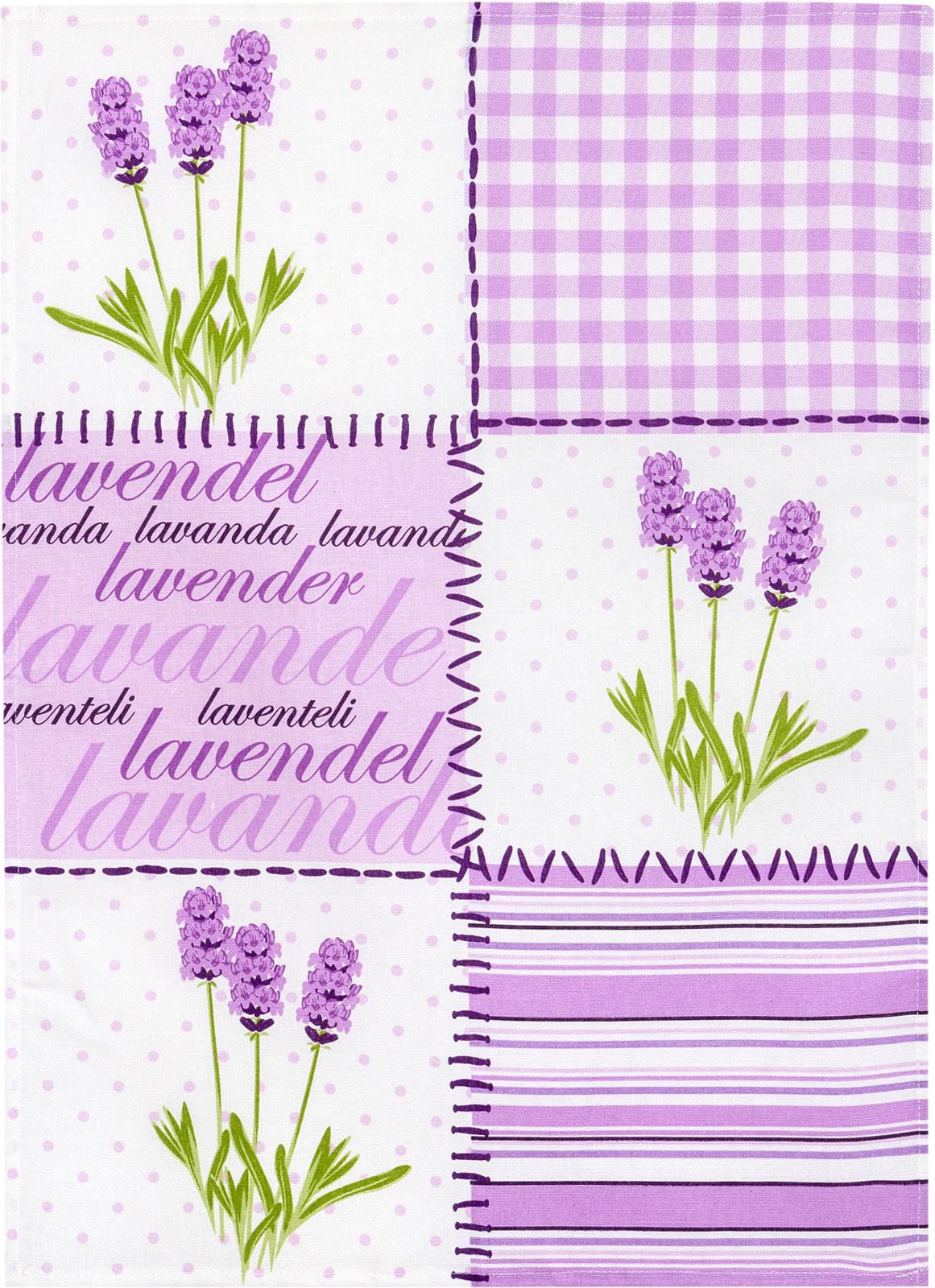 Küchentextilien - Kracht Halbleinen Geschirrtuch 50x70 Motiv 2 852 00 Lavendelblüten  - Onlineshop PremiumShop321