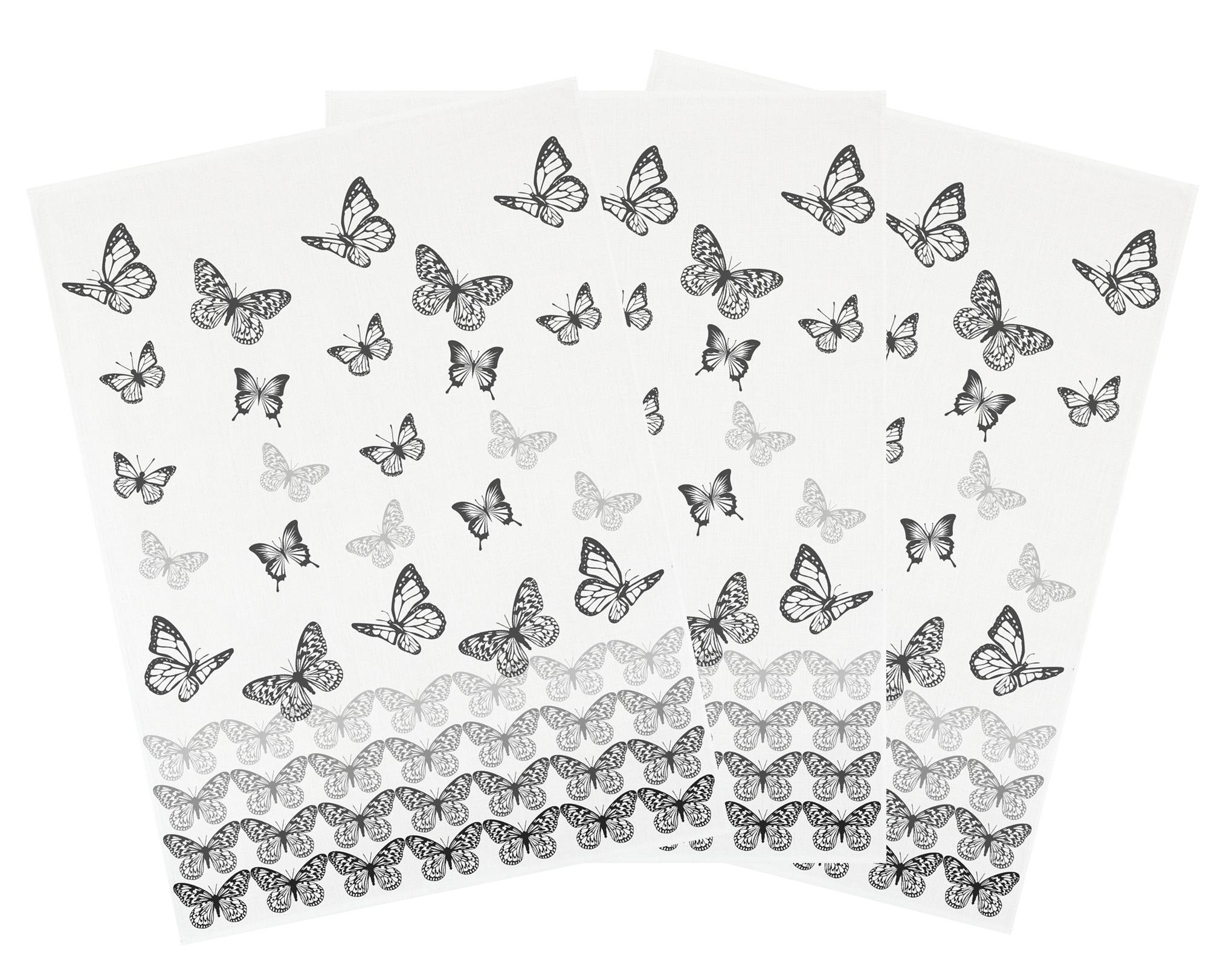 Küchentextilien - 3er Pack Kracht Halbleinen Geschirrtuch Schmetterlingsreihe 50x70 cm 251 811  - Onlineshop PremiumShop321