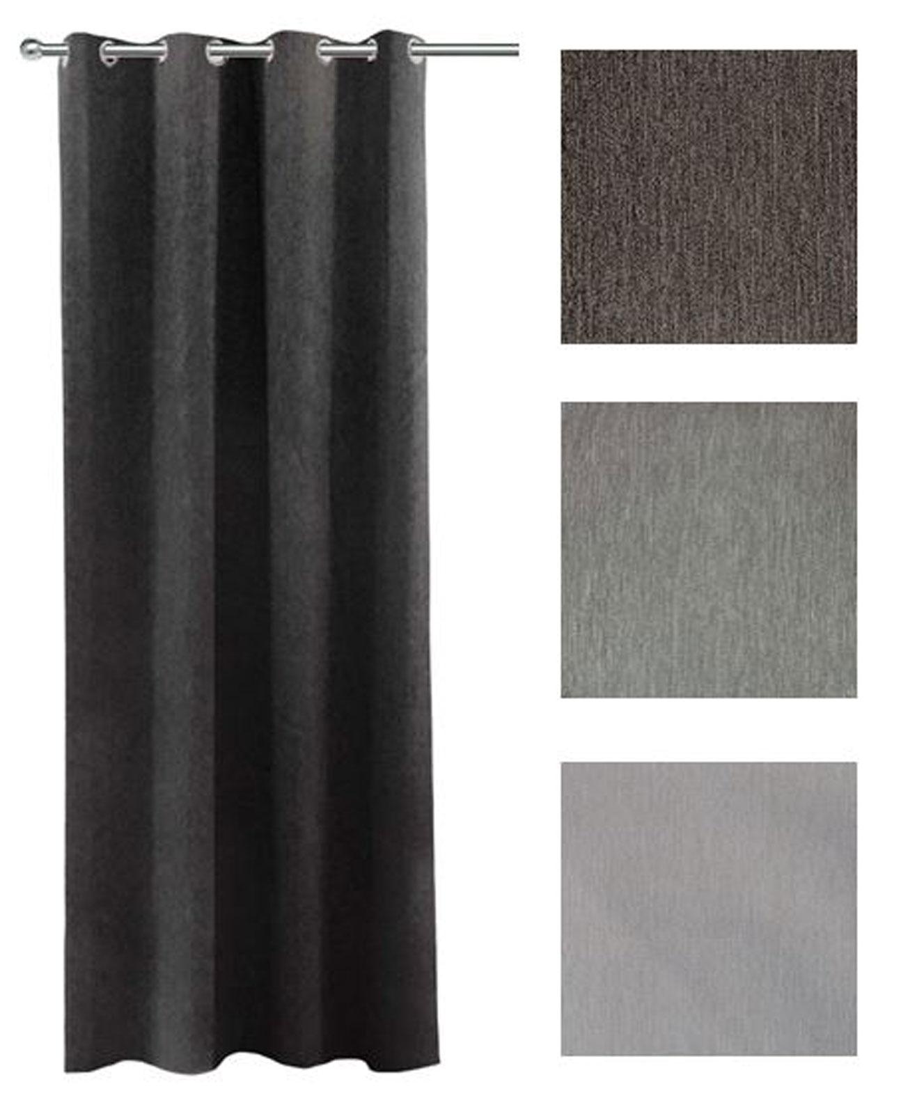 Gardinen und Vorhänge - 2er Pack Goldmond Vorhang Halbverdunkelung fein meliert Neapel 140x245cm  - Onlineshop PremiumShop321