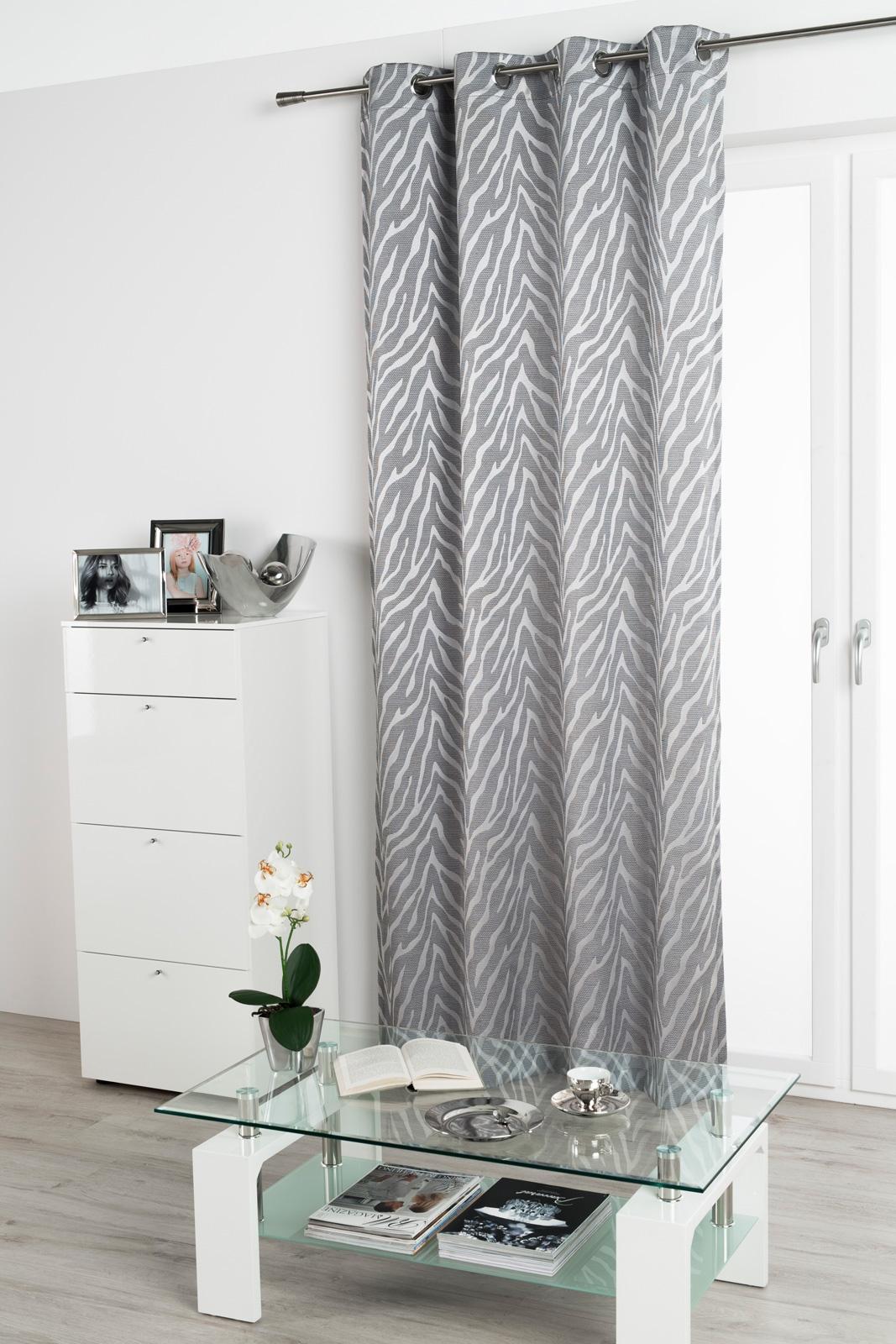 Gardinen und Vorhänge - Ösenschal Vorhang Gardine 135x245 blickdicht mit Metallösen Zora 300300  - Onlineshop PremiumShop321
