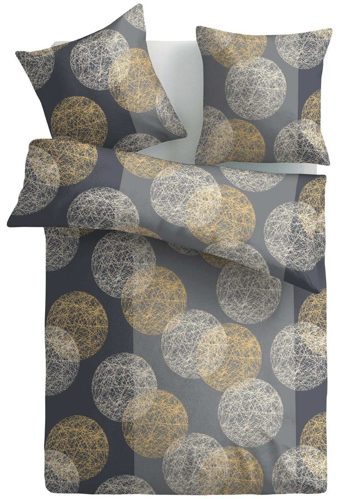 Bettwäsche - OptiDream exclusiv Biber Bettwäsche 100 Baumwolle Sphere 135x200  - Onlineshop PremiumShop321