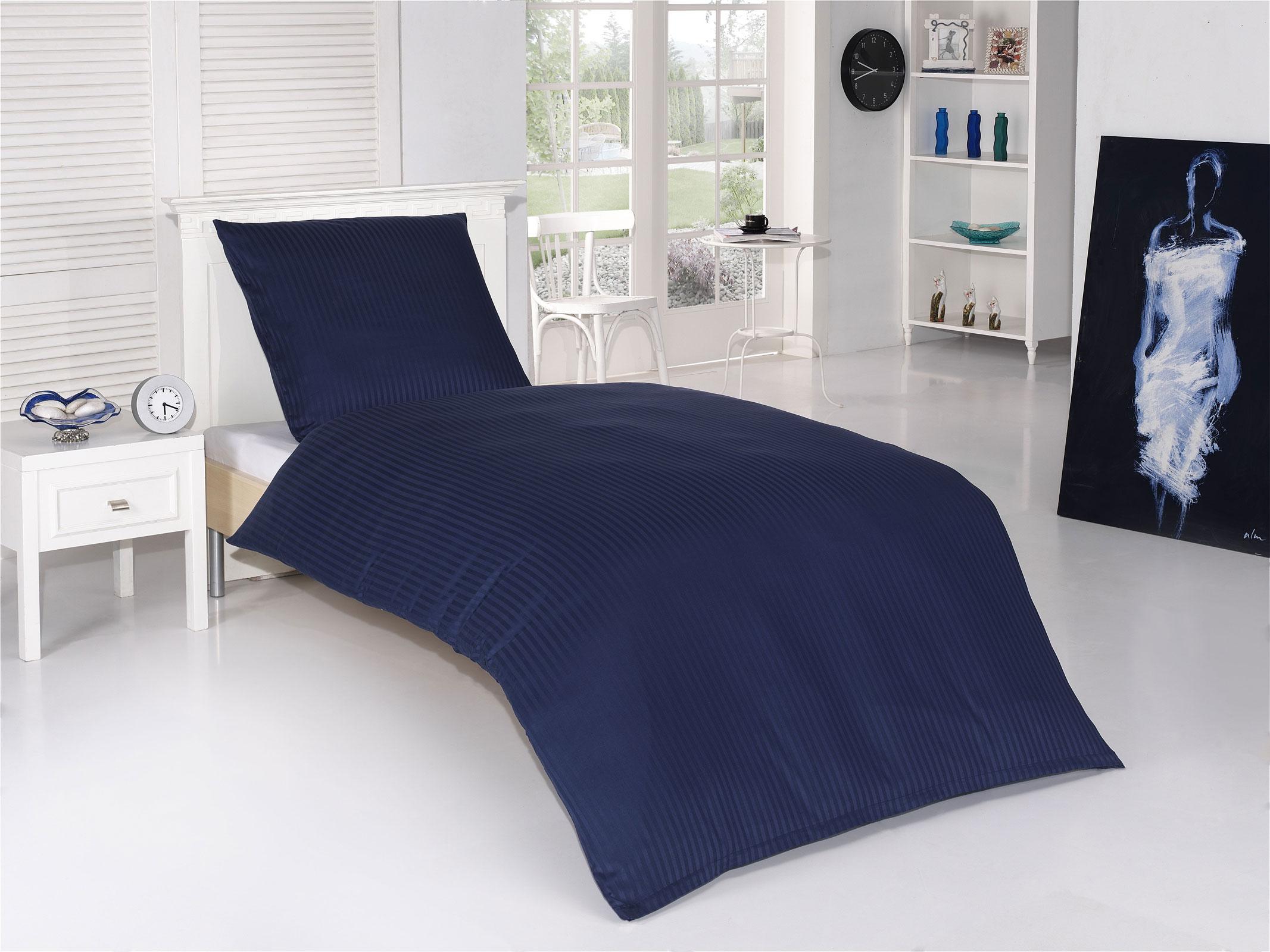 premium bettw sche mako satin damast 100 baumwolle hotel bettgarnitur ebay. Black Bedroom Furniture Sets. Home Design Ideas