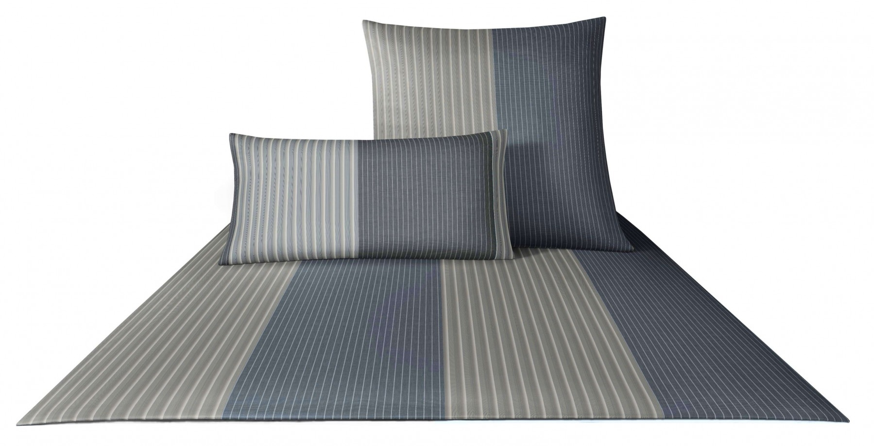 Bettwäsche - 4tlg. Joop Mako Satin Bettwäsche Double Stripes 155x220 4054 9  - Onlineshop PremiumShop321