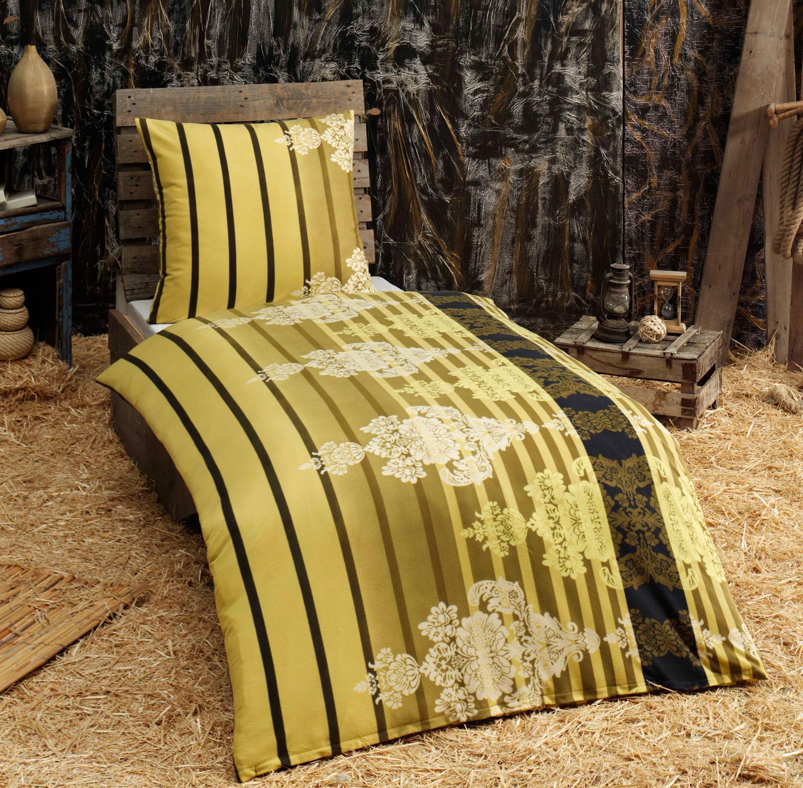 biber bettw sche microfaser flausch 135x200 nadine 409220 ebay. Black Bedroom Furniture Sets. Home Design Ideas