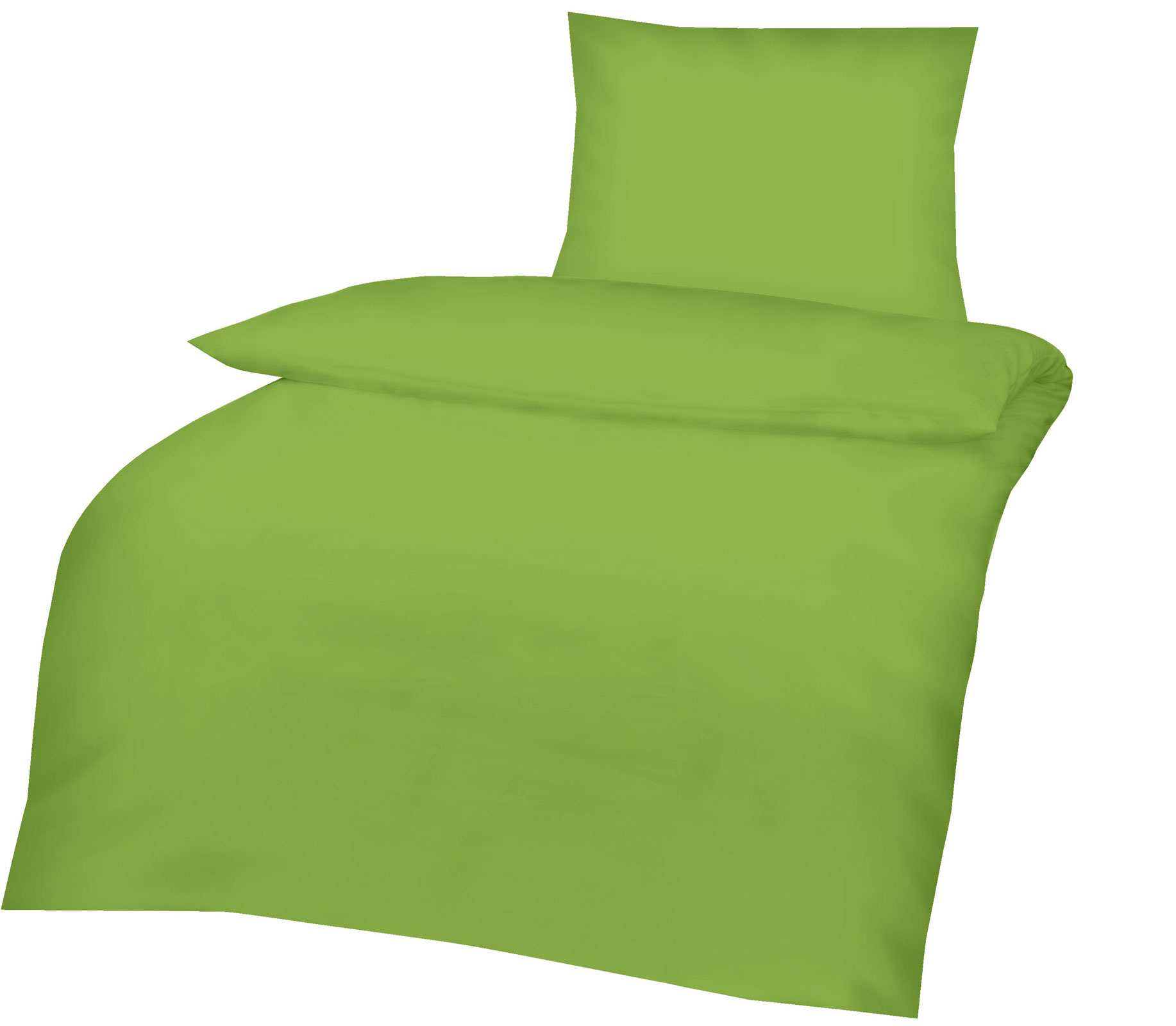 Bettwäsche - Renforce Bettwäsche 135x200 80x80 grün Art 417640  - Onlineshop PremiumShop321