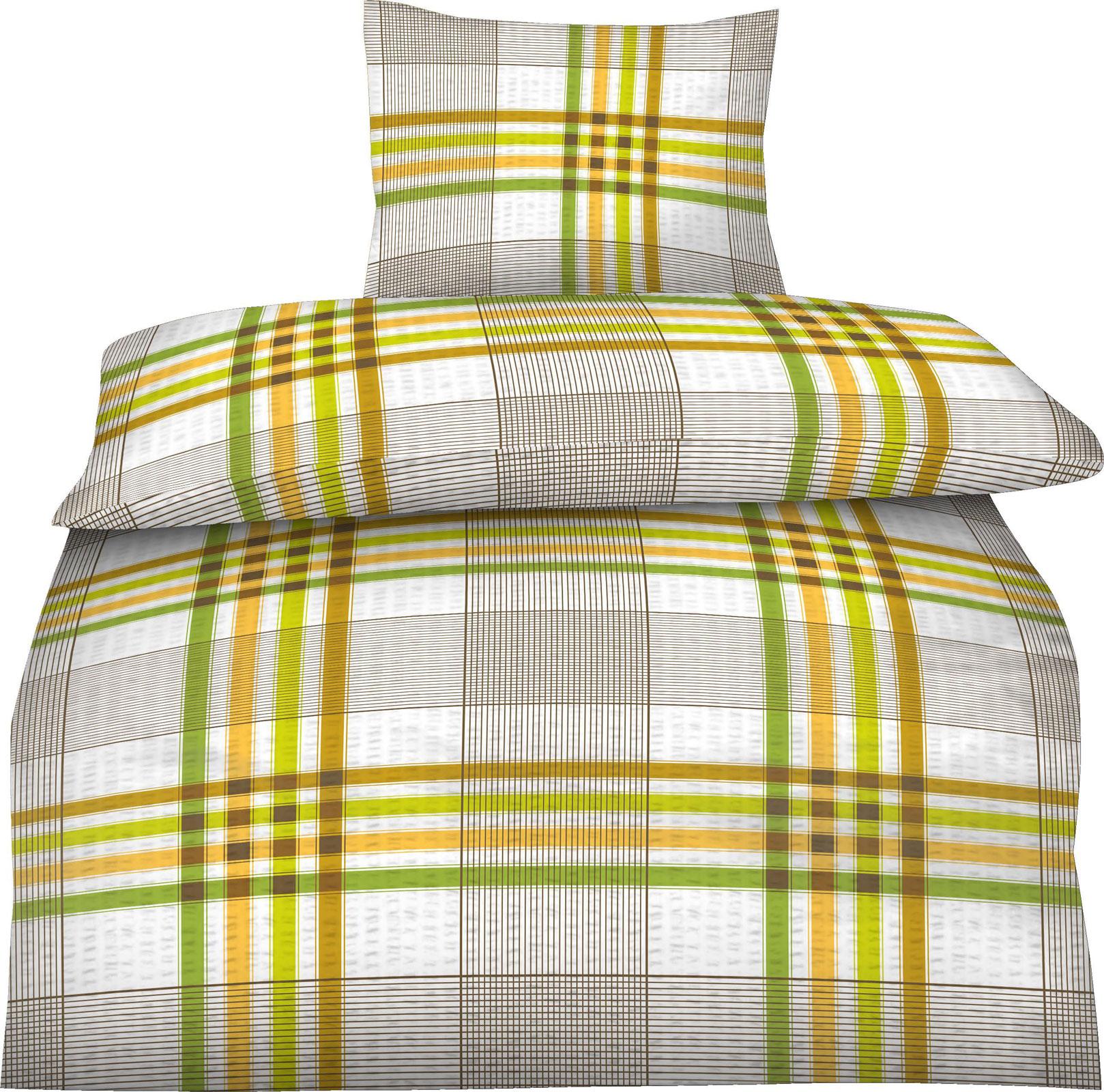 seersucker bettw sche baumwolle 135x200 80x80 art 418030 ebay. Black Bedroom Furniture Sets. Home Design Ideas