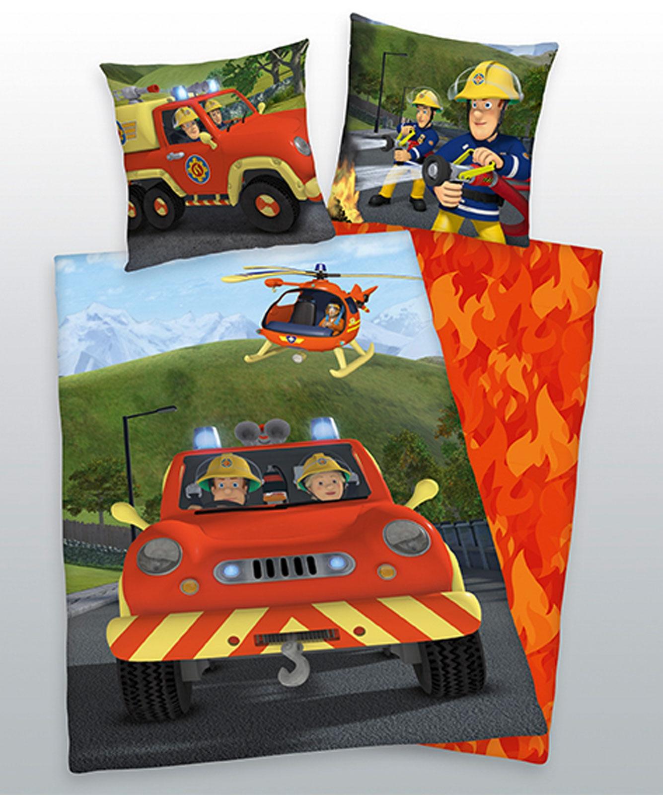 Bettwäsche - Herding Feuerwehr SAM Flanell Wende Bettwäsche incl. Aufbewahrungsbeutel 4670241.050  - Onlineshop PremiumShop321