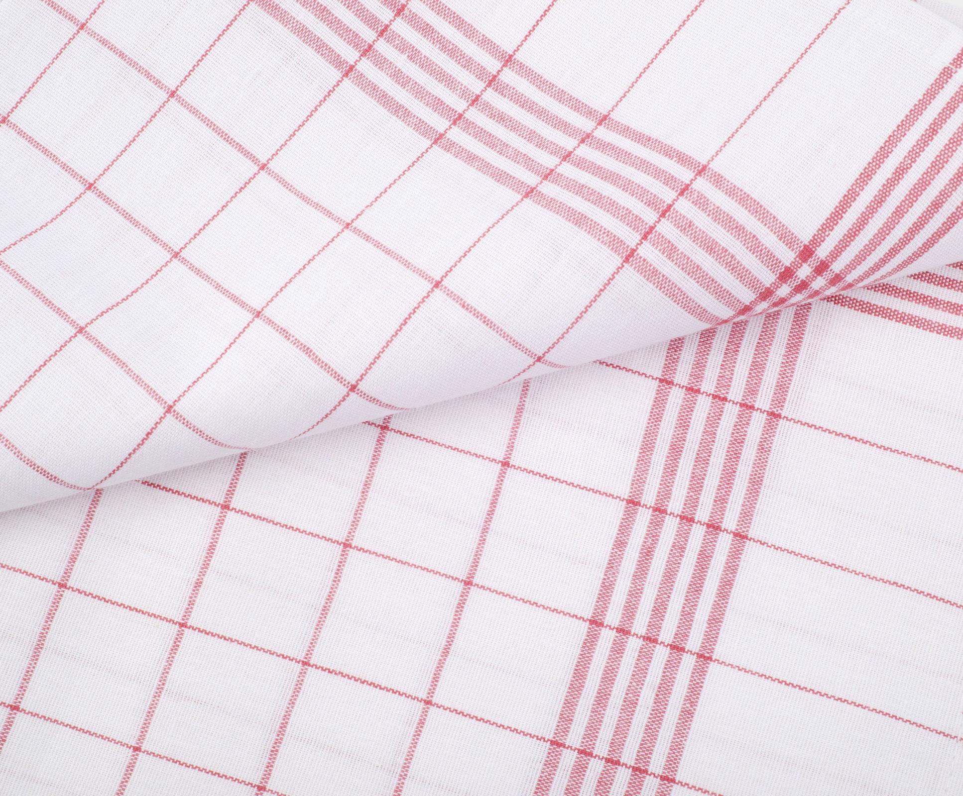 Küchentextilien - 10er Pack Gözze Geschirrtücher 50x70 100 Baumwolle kochfest weiß rot  - Onlineshop PremiumShop321