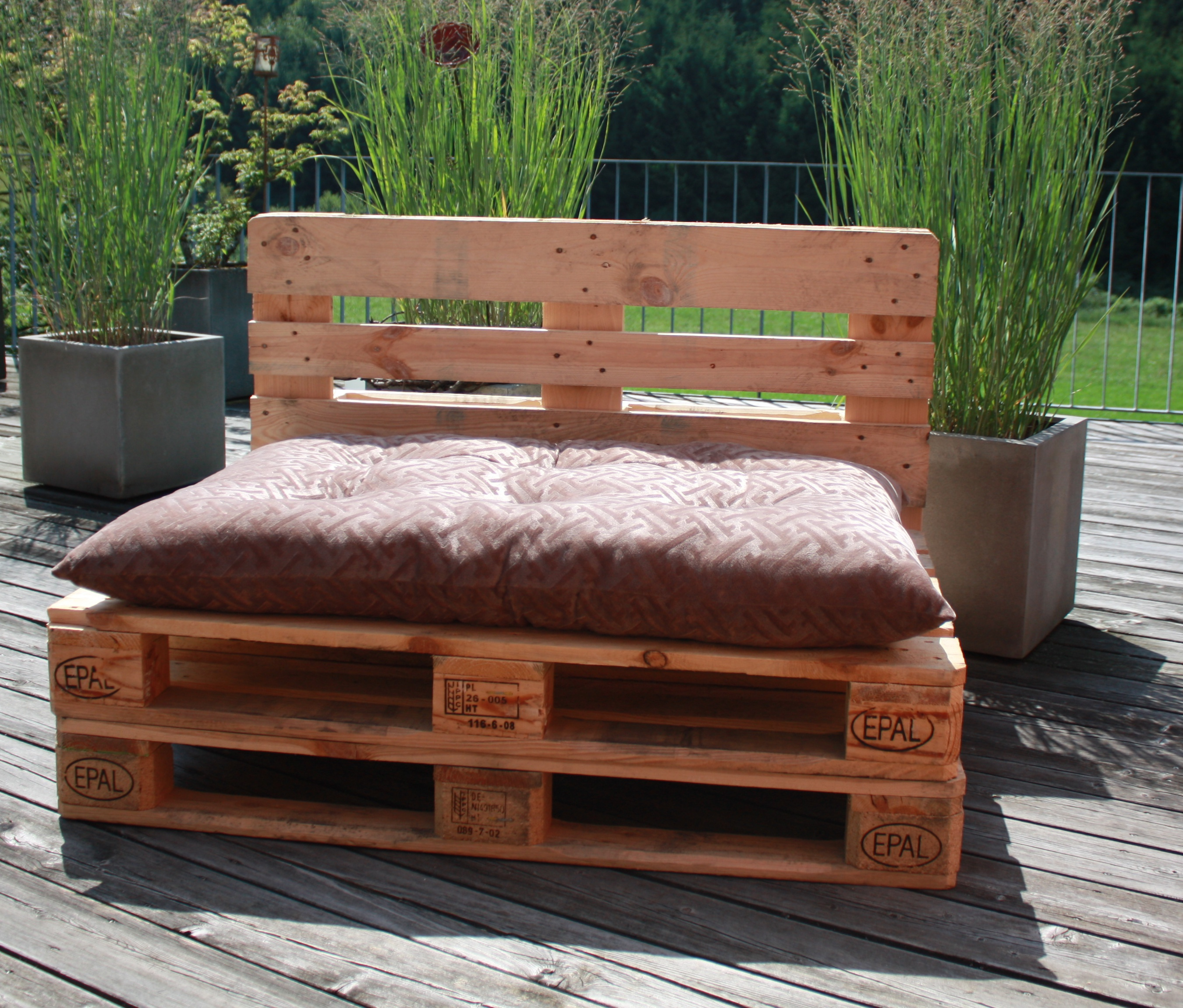 palettenkissen chill kissen f r europaletten 120x80x12 ebay. Black Bedroom Furniture Sets. Home Design Ideas