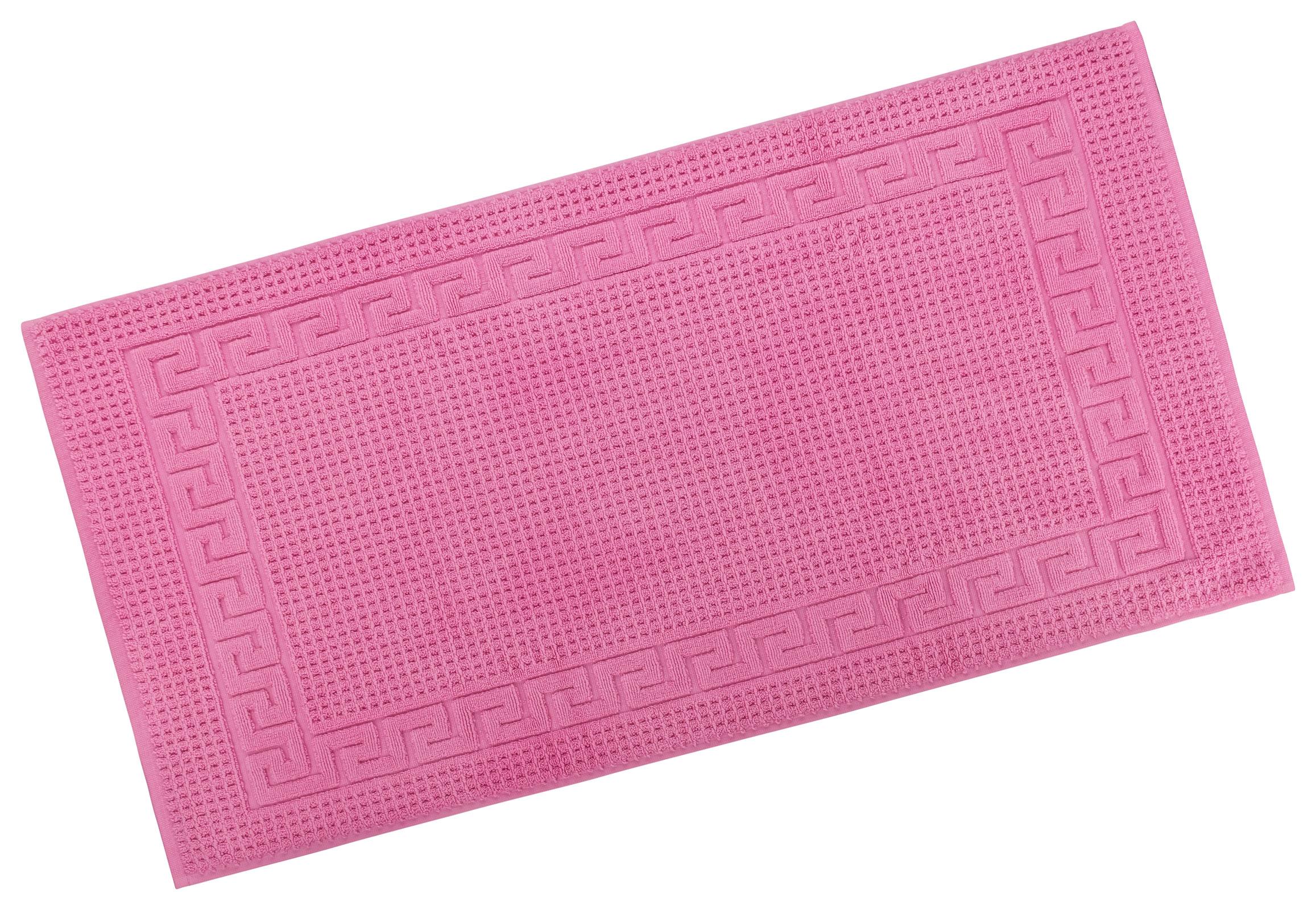 Badtextilien - Restposten Floringo Badvorleger Badematte exclusiv 1100 g m² Badeteppich pink 70x140  - Onlineshop PremiumShop321
