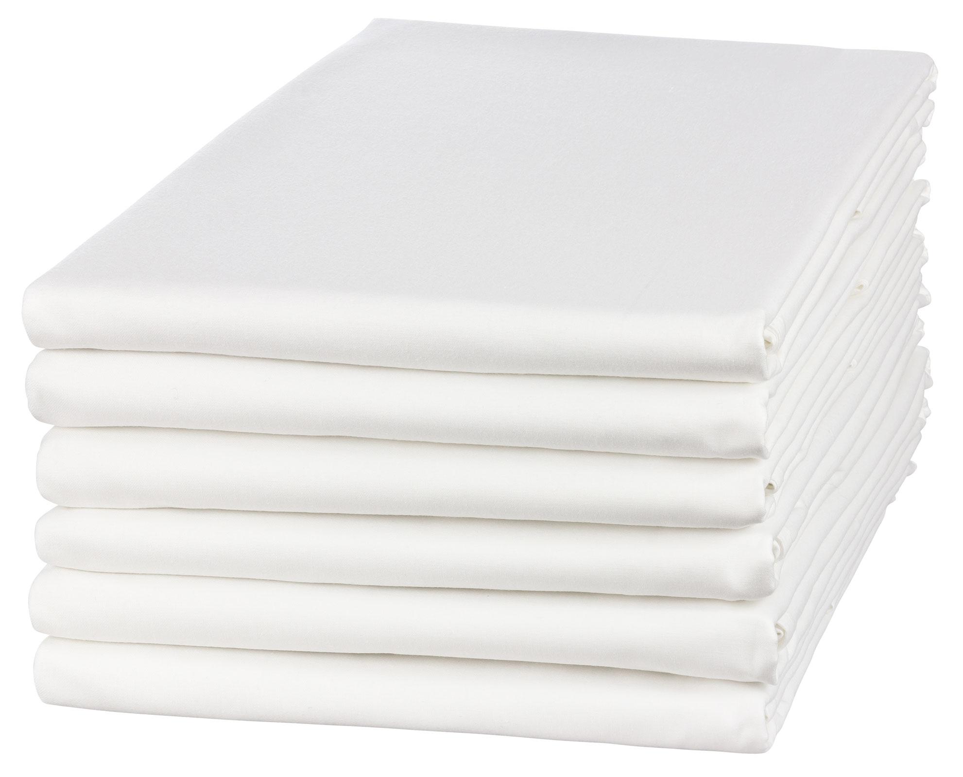 Bettwäsche - Betttuch Bettlaken 150x250 cm weiß ohne Gummizug aus 100 Baumwolle ca. 140g m²  - Onlineshop PremiumShop321