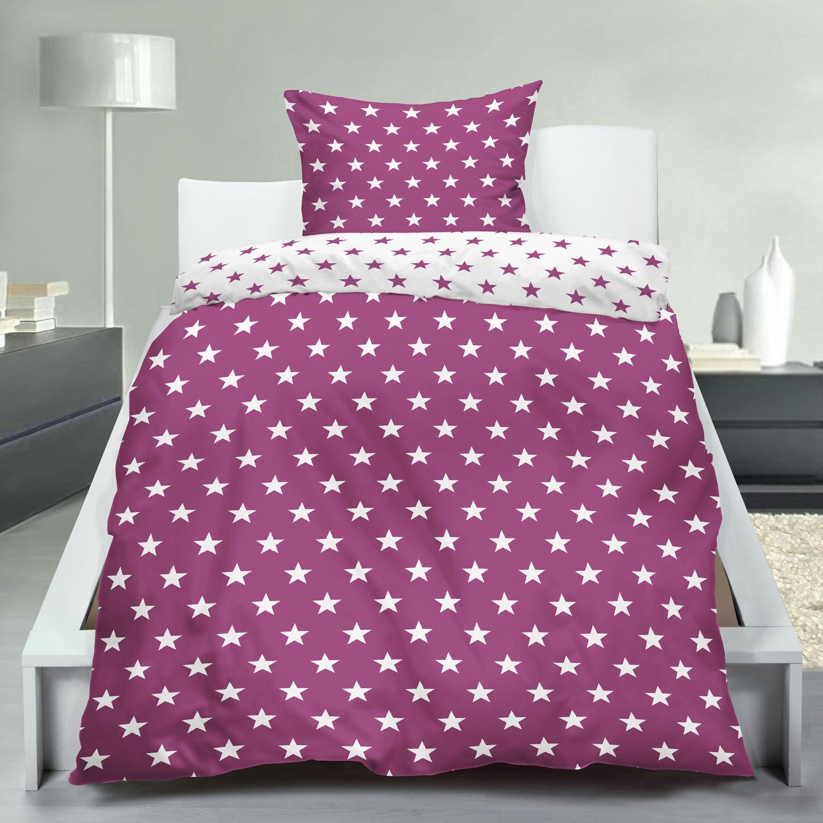 wende bettw sche stars sterne beere 135x200 80x80. Black Bedroom Furniture Sets. Home Design Ideas