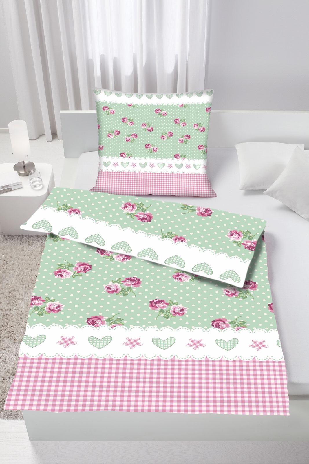 bettw sche renforce 135x200 80x80 art 2302 ebay. Black Bedroom Furniture Sets. Home Design Ideas