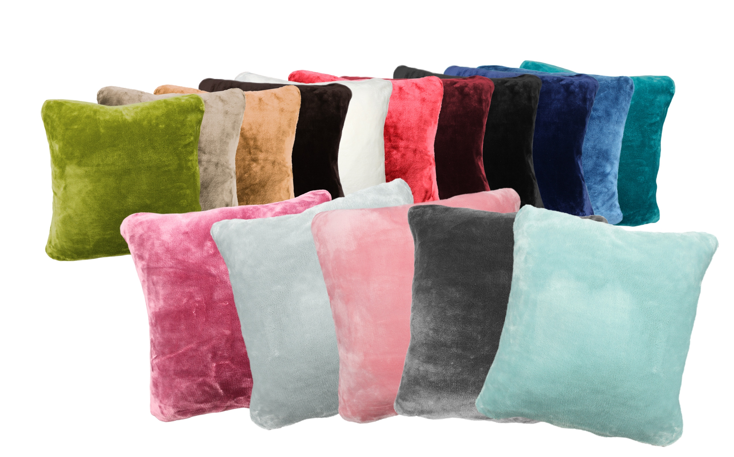 Wohndecken und Kissen - 2er Pack Kuschelkissen Premium Cashmere Feeling Kissen 50x50 cm flauschiges Sofakissen  - Onlineshop PremiumShop321