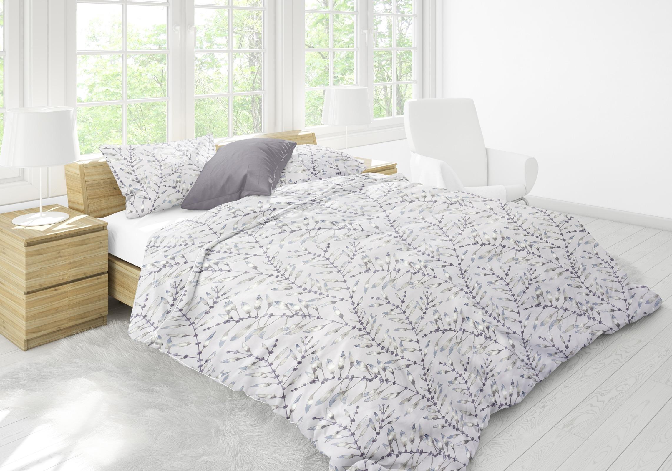 Bettwäsche - P.K. Collection Mako Satin Bettwäsche Chaconia 100 Baumwolle YKK Reißverschluss  - Onlineshop PremiumShop321
