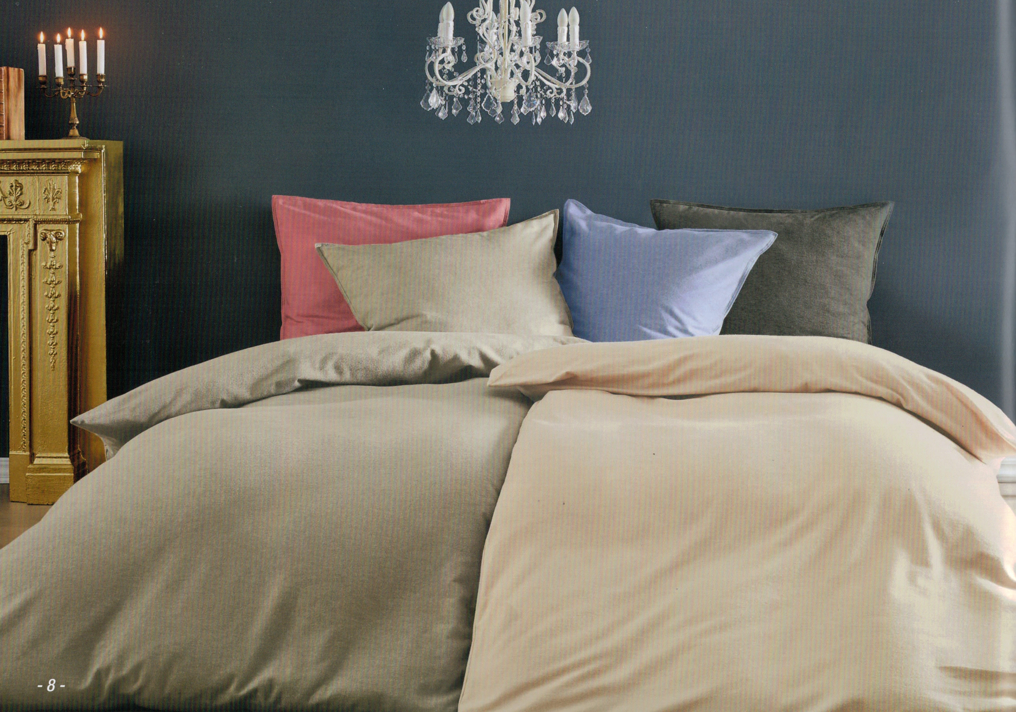 angebot dormisette winter bettw sche chambray flanell 135x200 80x80 ebay. Black Bedroom Furniture Sets. Home Design Ideas