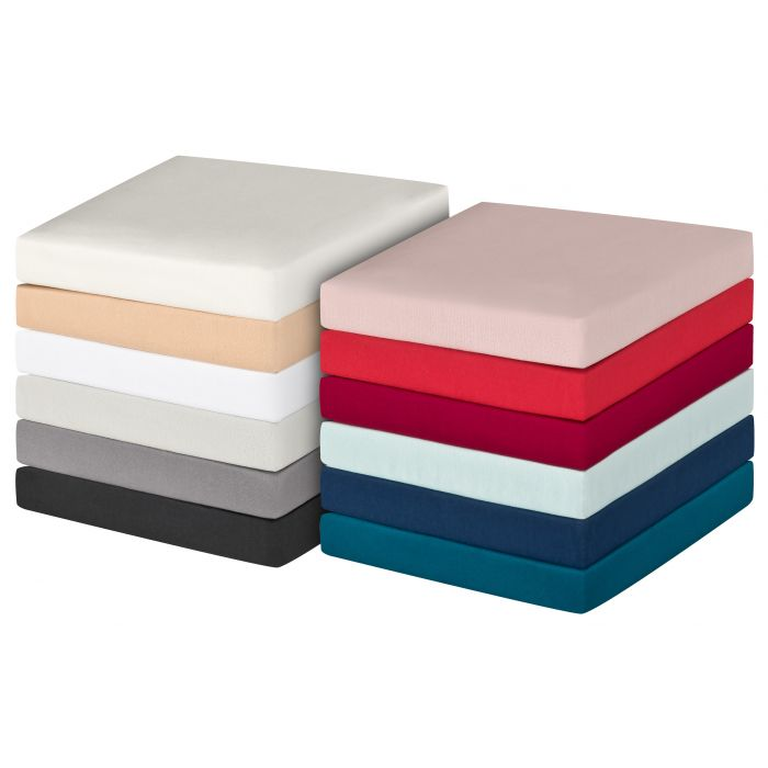 Steghöhe 30 cm 100/% Baumwolle Kaeppel Biber Spannbettlaken Farbe leinen