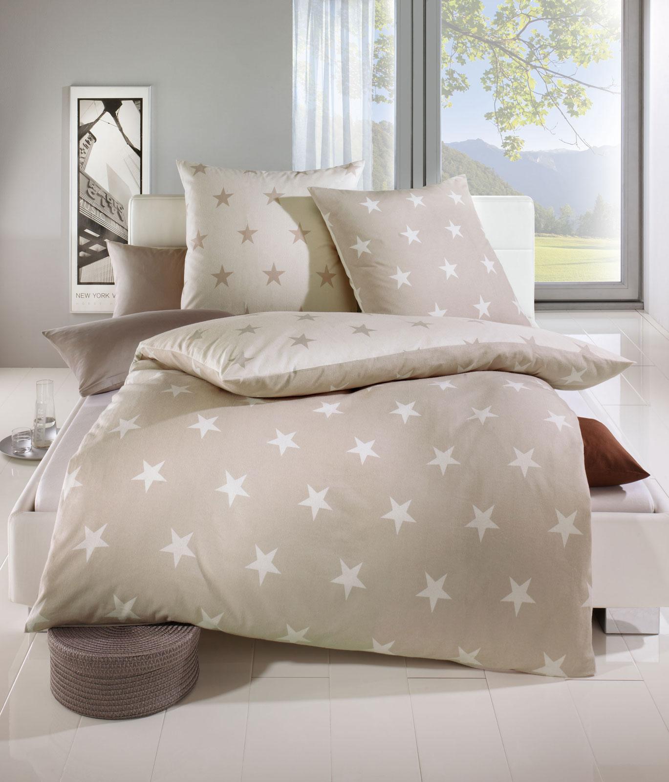 Biber Bettwäsche Sterne : kaeppel biber bettw sche 135x200 327 546 sterne natur ebay ~ Watch28wear.com Haus und Dekorationen