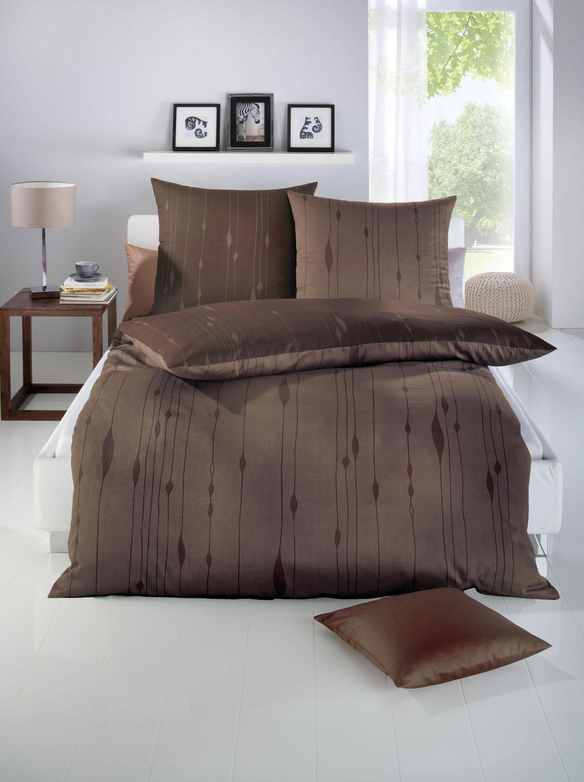 Bettwäsche - Kaeppel Biber Feinbiber Bettwäsche 100 Baumwolle Cocoon 684 506 braun 135x200  - Onlineshop PremiumShop321