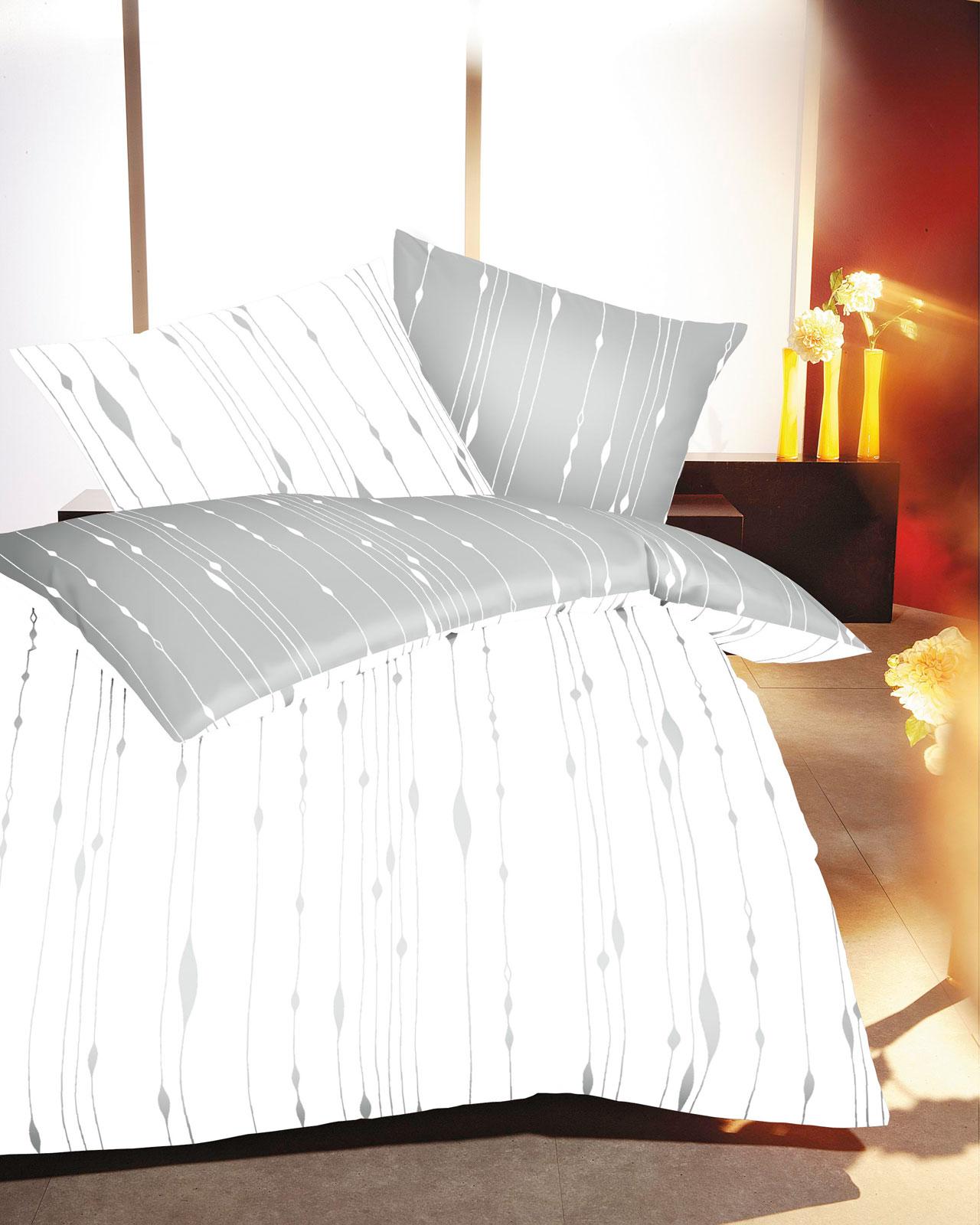Bettwäsche - Kaeppel Biber Feinbiber Bettwäsche 100 Baumwolle Cocoon 684 549 schiefer 200x200  - Onlineshop PremiumShop321