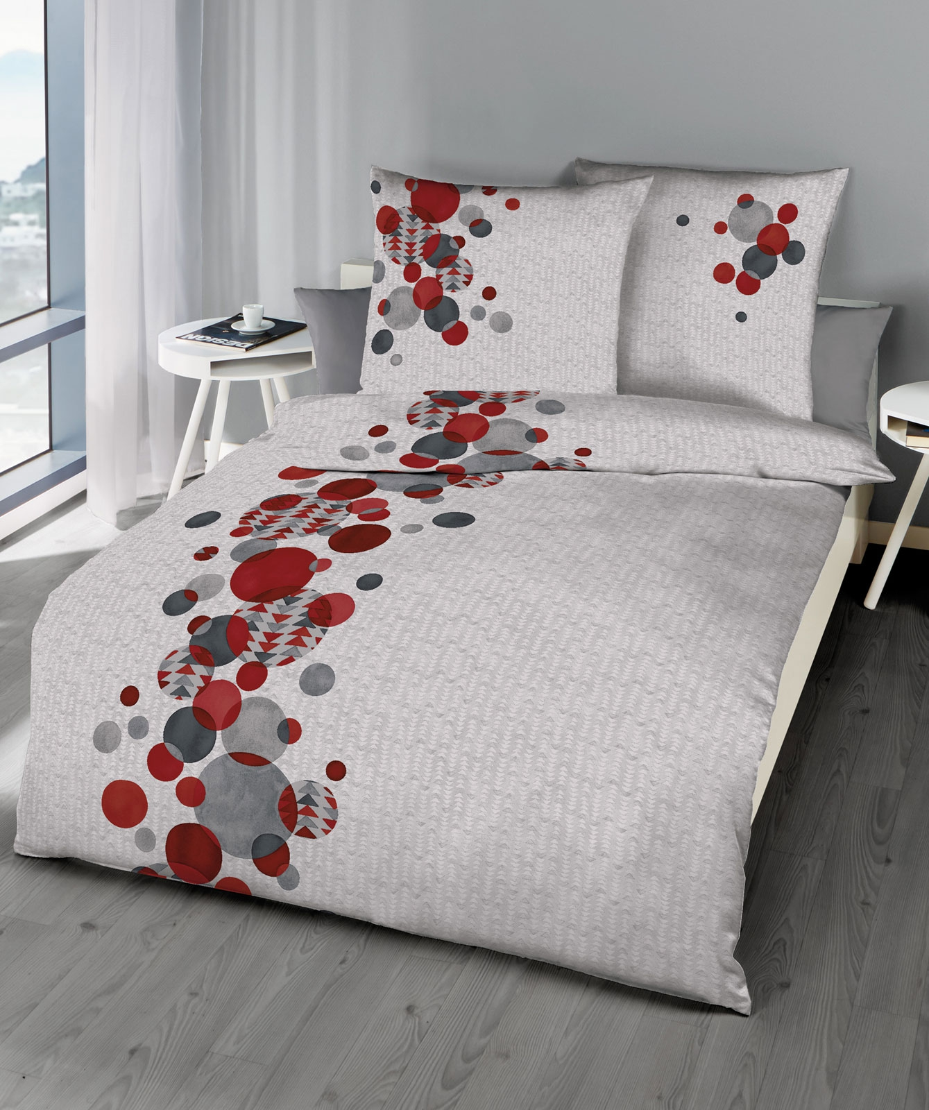 kaeppel mako satin bettw sche global 710 602 135x200 rot aufbewahrungsbeutel ebay. Black Bedroom Furniture Sets. Home Design Ideas