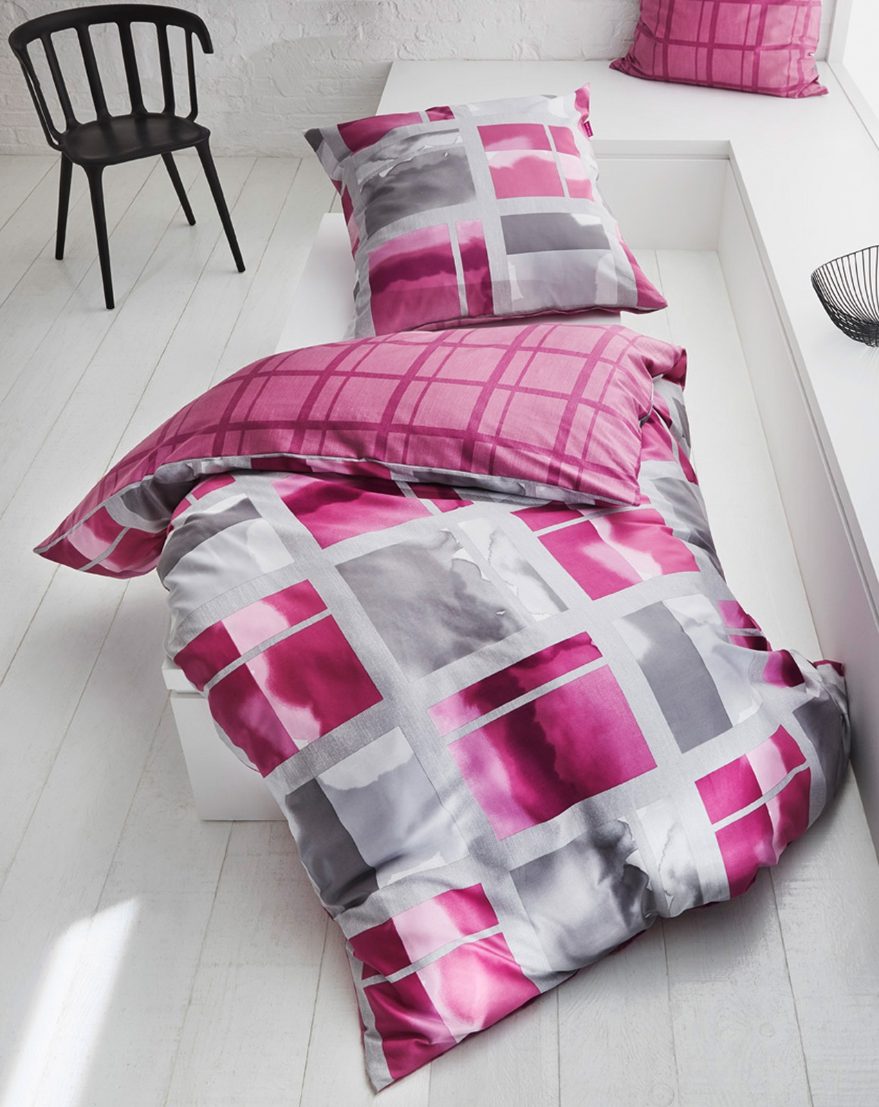 Bettwäsche - Kaeppel Mako Satin Bettwäsche Must Have Polaroid pink 898 618 Aufbewahrungsbeutel  - Onlineshop PremiumShop321