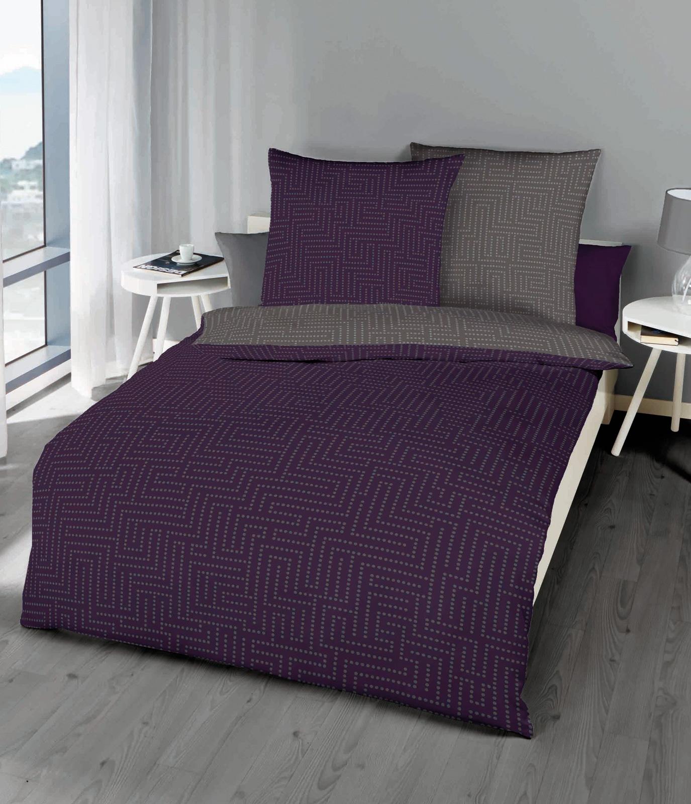 Bettwäsche - Kaeppel Mako Satin Bettwäsche Password violett 986 665 Aufbewahrungsbeutel  - Onlineshop PremiumShop321