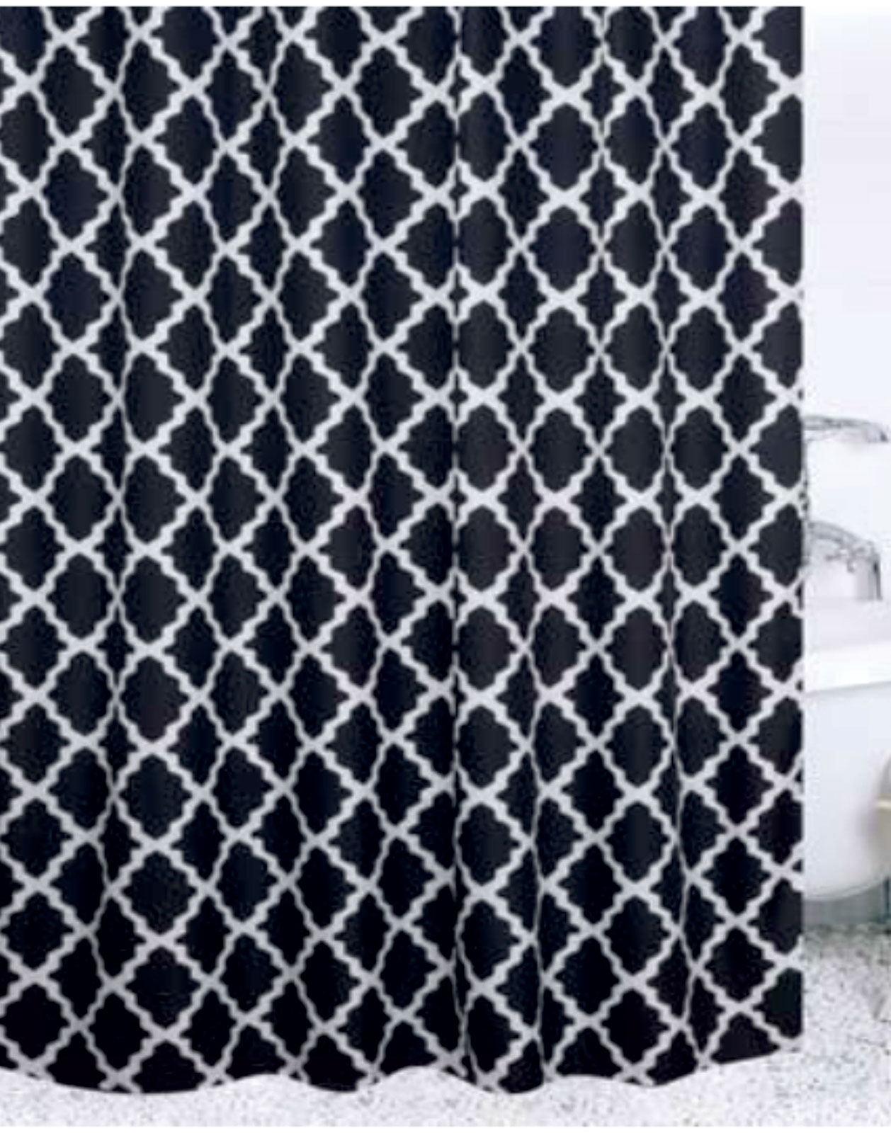 Badtextilien - Textil Duschvorhang Badewannenvorhang Vorhang 180x200 incl. 12 Ringe 568230 Rhomp  - Onlineshop PremiumShop321