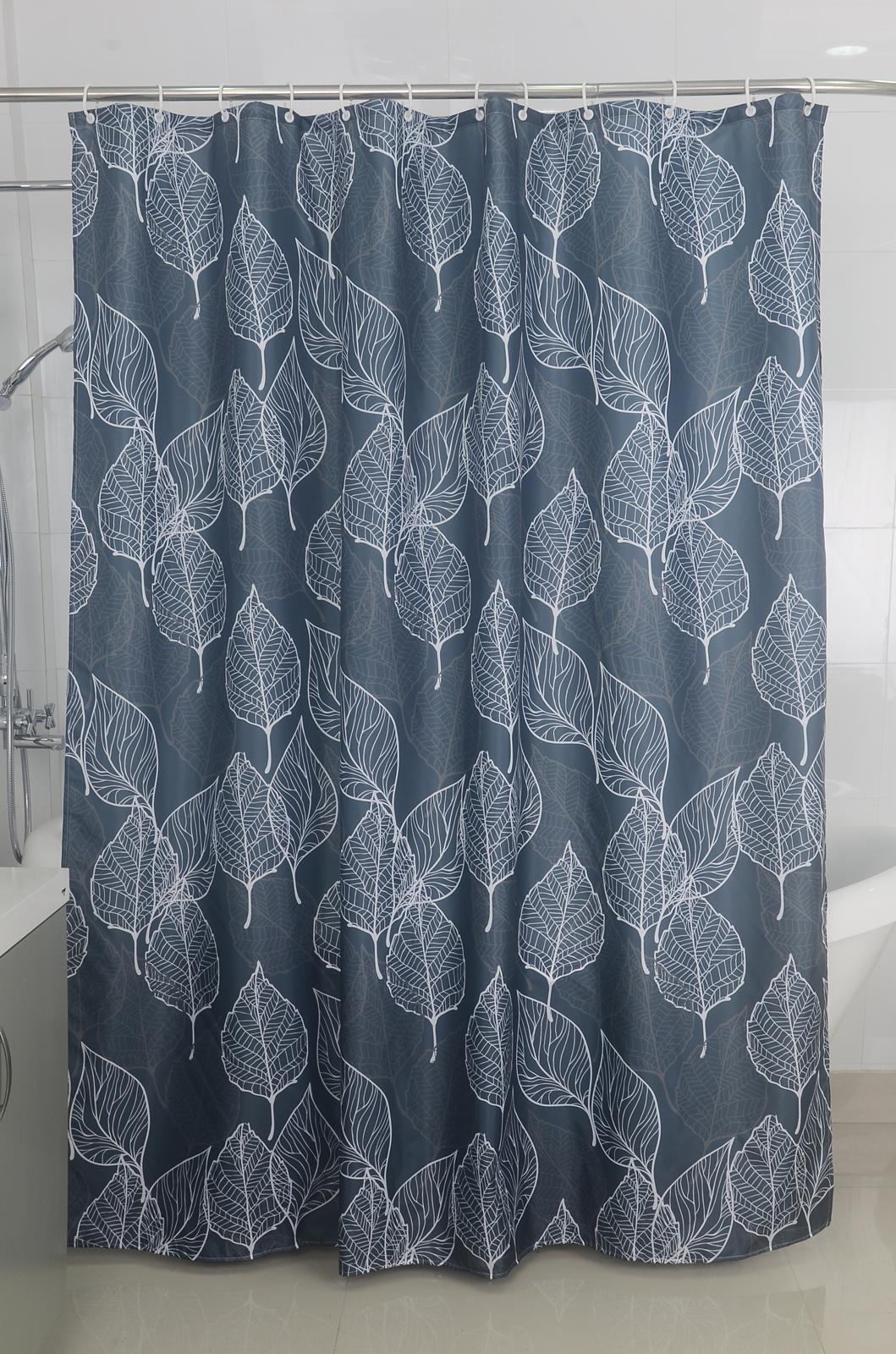 Badtextilien - Textil Duschvorhang Badewannenvorhang Vorhang 180x200 incl. 12 Ringe 568117 Leaf  - Onlineshop PremiumShop321