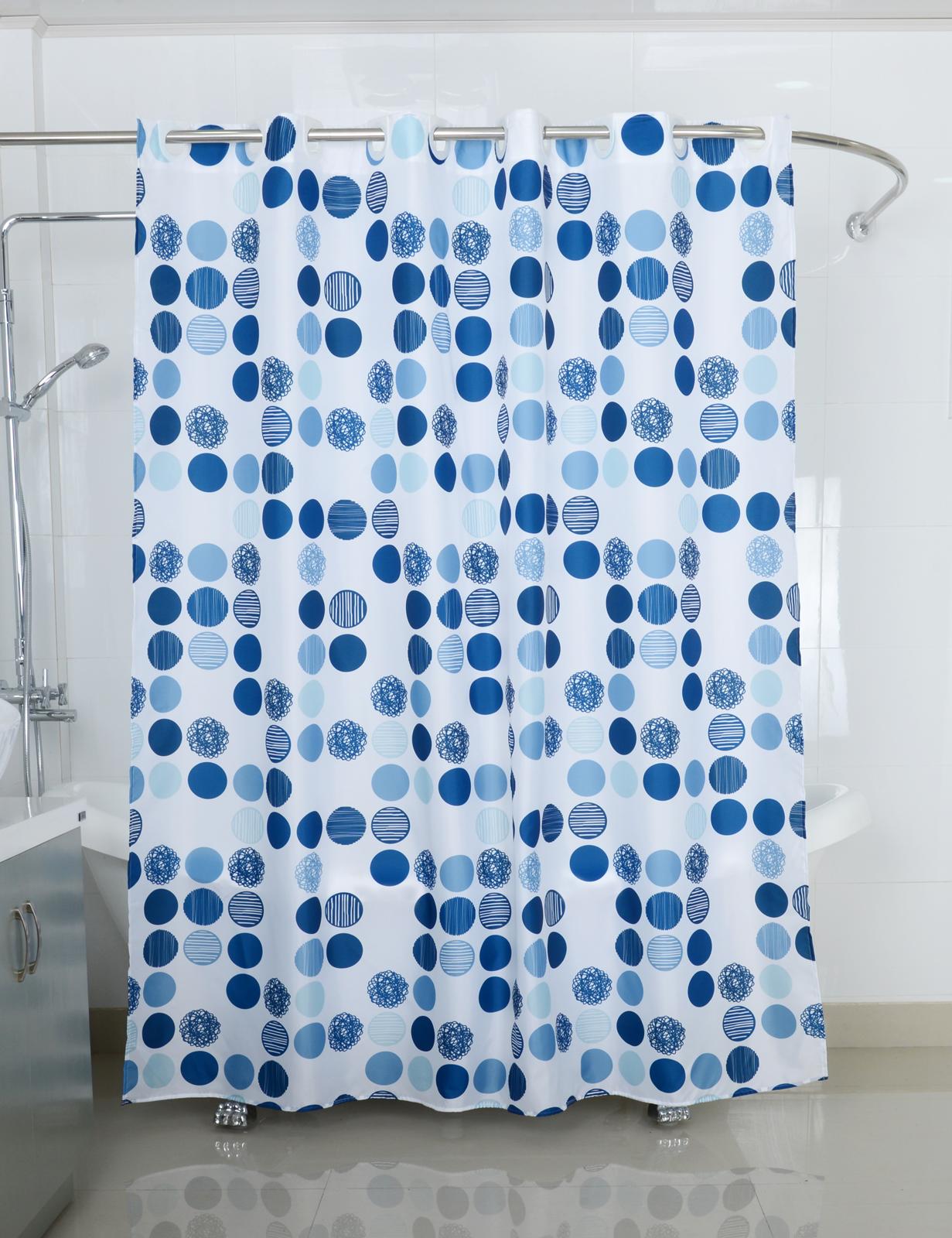 Badtextilien - Textil Duschvorhang Badewannenvorhang Vorhang 180x200 incl. 12 Ringe 568094 Sea of Dots  - Onlineshop PremiumShop321