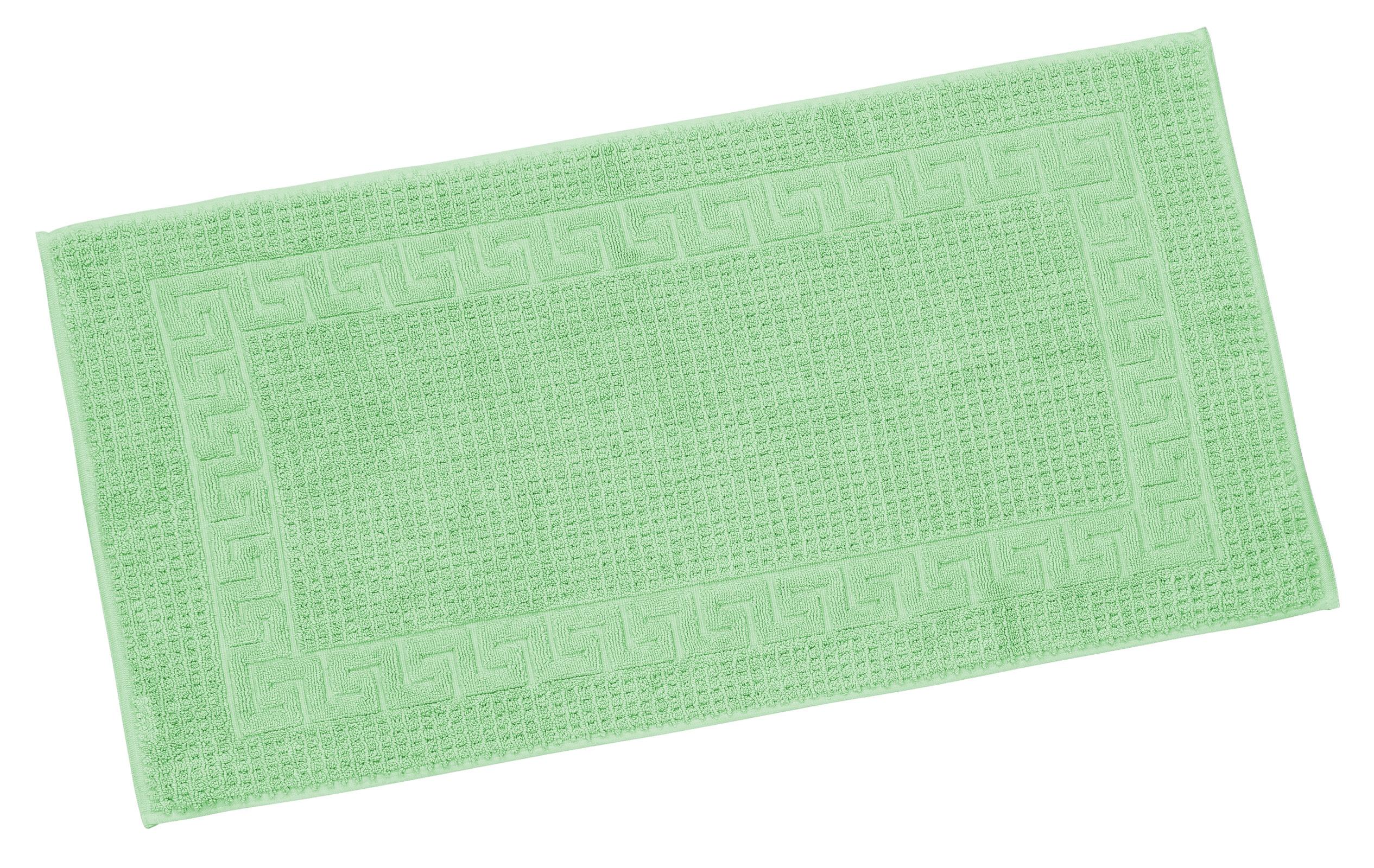 Badtextilien - Restposten Floringo Badvorleger Badematte exclusiv 1100 g m² Badeteppich lindgrün 50x100  - Onlineshop PremiumShop321