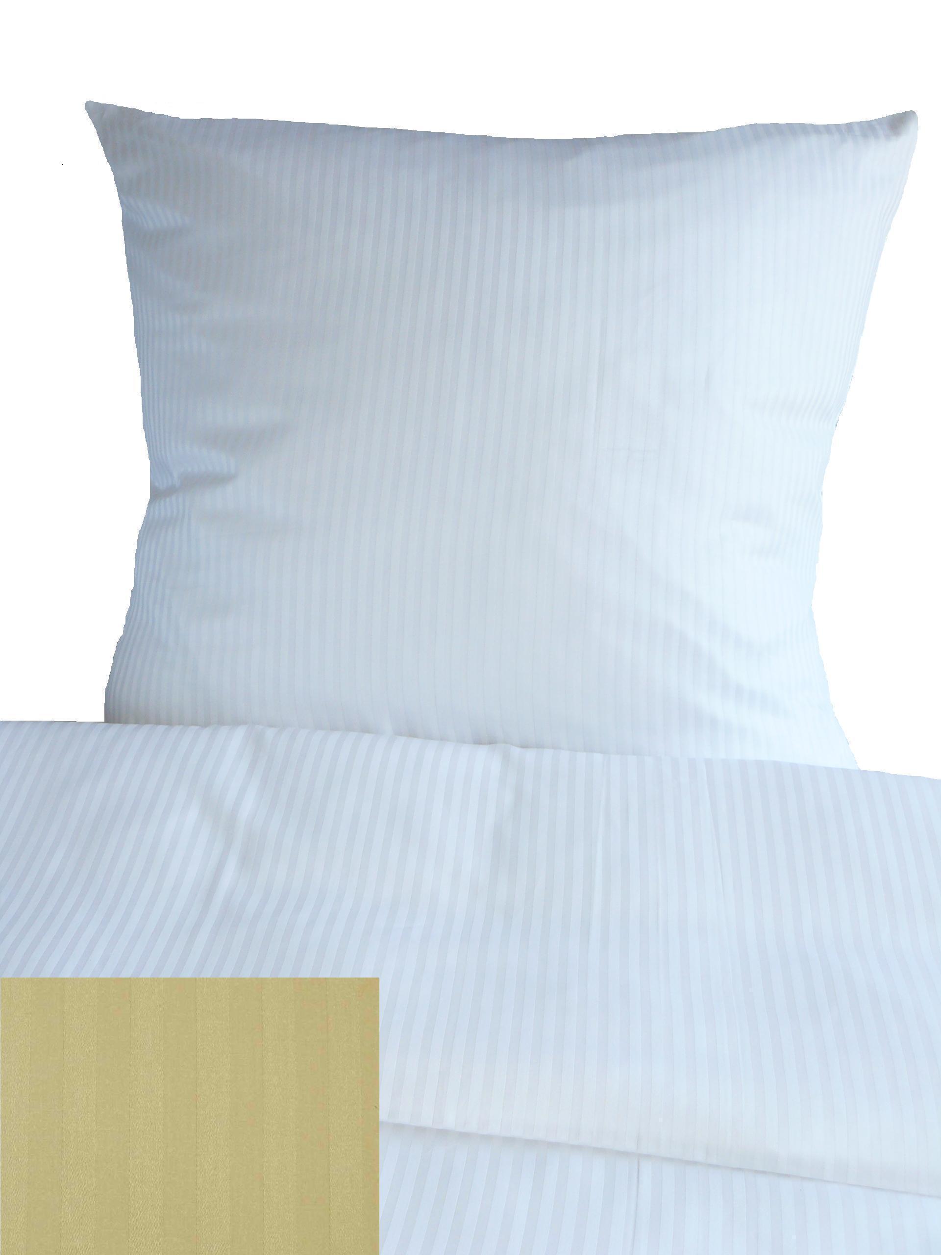 Wunderschön Microsatin Bettwäsche Ideen Von Hotelbettwäsche Streifen Damast 10mm 135x200 / 80x80