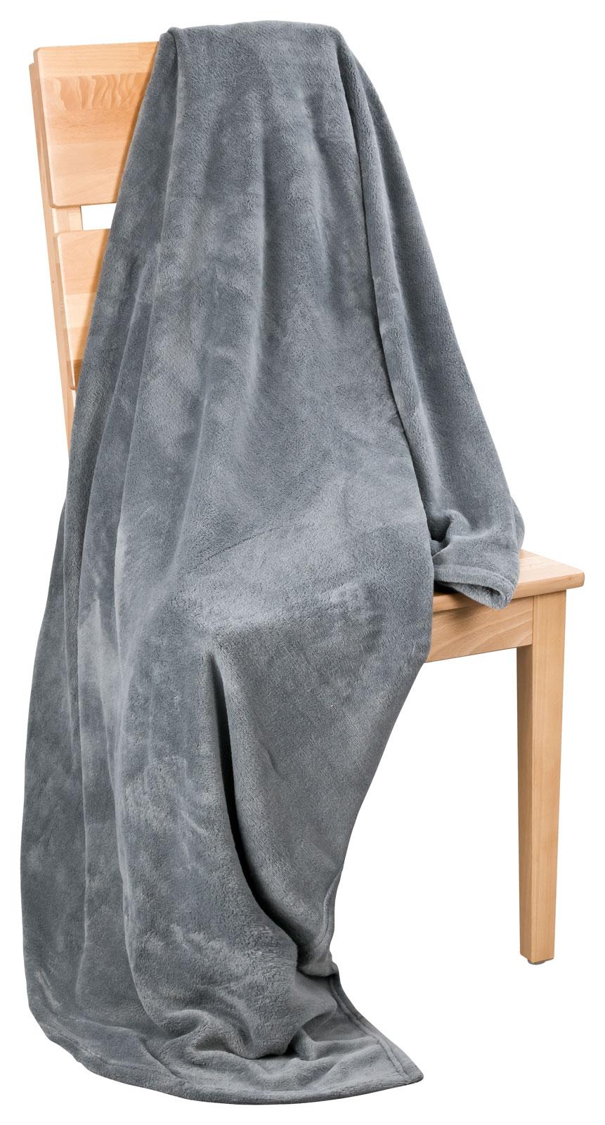 microfaser flausch decke kuscheldecke wohndecke boston 150x200 ebay. Black Bedroom Furniture Sets. Home Design Ideas