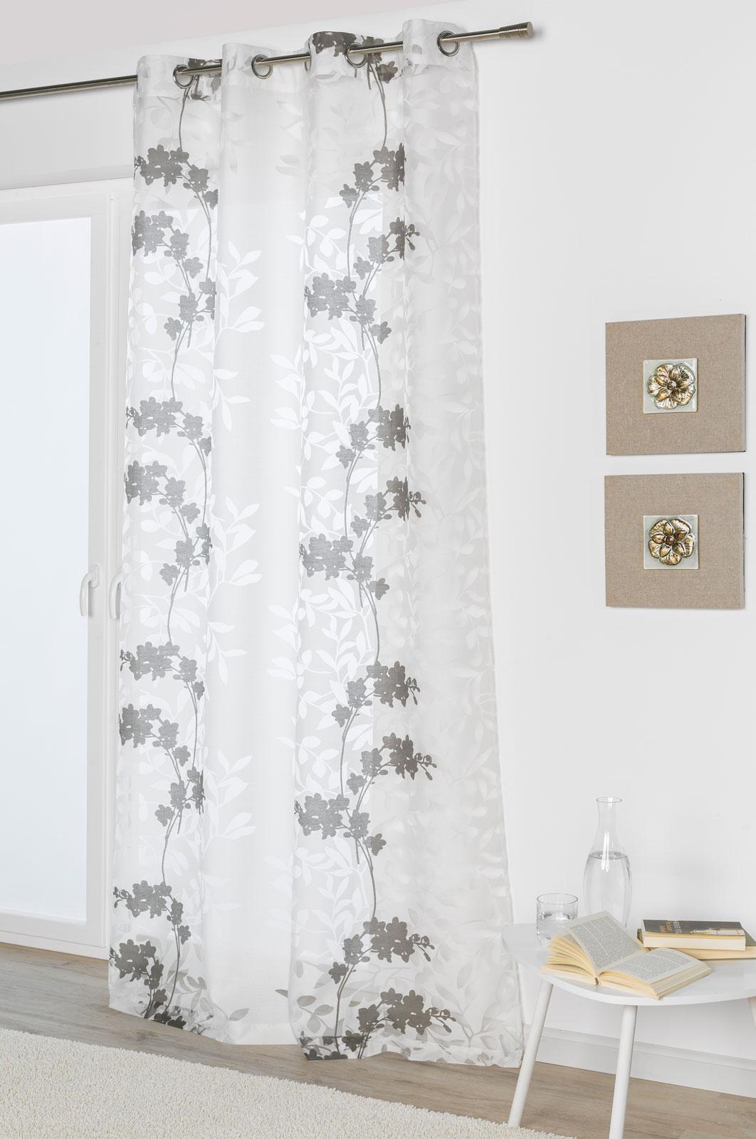 Gardinen und Vorhänge - Ösenschal Vorhang Gardine 135x245 Greta 300261  - Onlineshop PremiumShop321