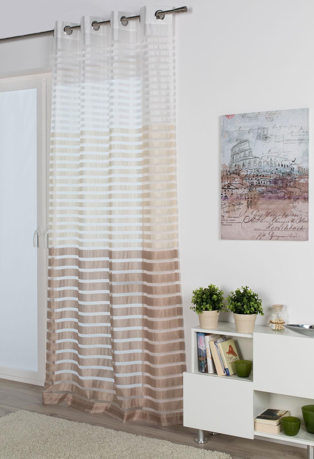 Gardinen und Vorhänge - Ösenschal Vorhang Gardine 135x245 Steffi stone  - Onlineshop PremiumShop321