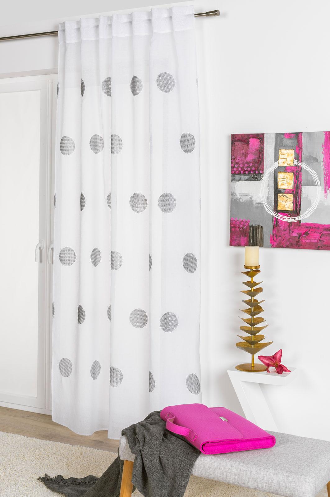 Gardinen und Vorhänge - Schlaufenschal Vorhang Gardine 135x245 Karin 300273  - Onlineshop PremiumShop321