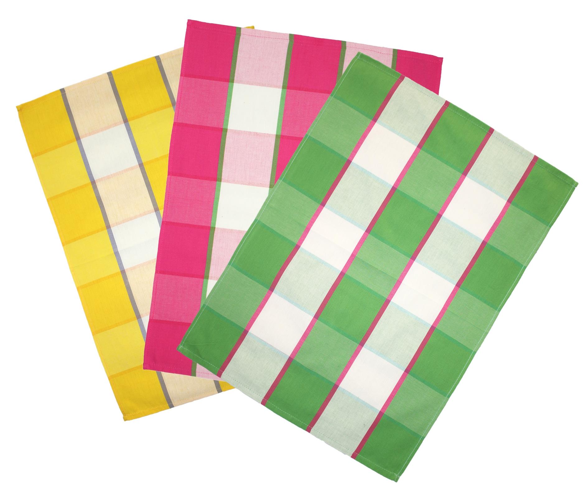 Küchentextilien - 3er Pack Geschirrtücher Blockkaro emozioni casa 50x70cm 100 Baumwolle  - Onlineshop PremiumShop321