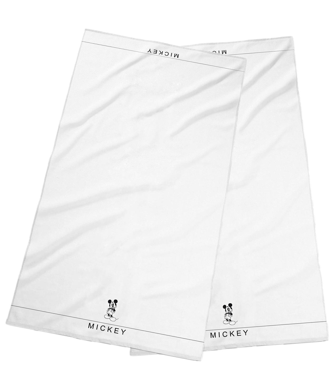 Badtextilien - 2er Pack Disney Frottee Handtuch Mickey Mouse 50x100 weiß  - Onlineshop PremiumShop321