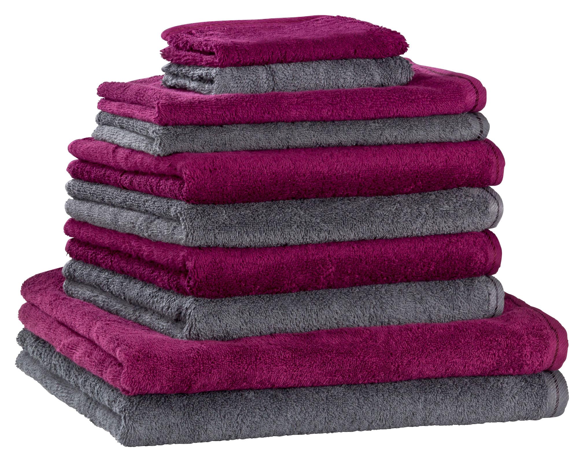 floringo premium handtuchset handtuch set 10 teilig profi star 500g m ebay. Black Bedroom Furniture Sets. Home Design Ideas