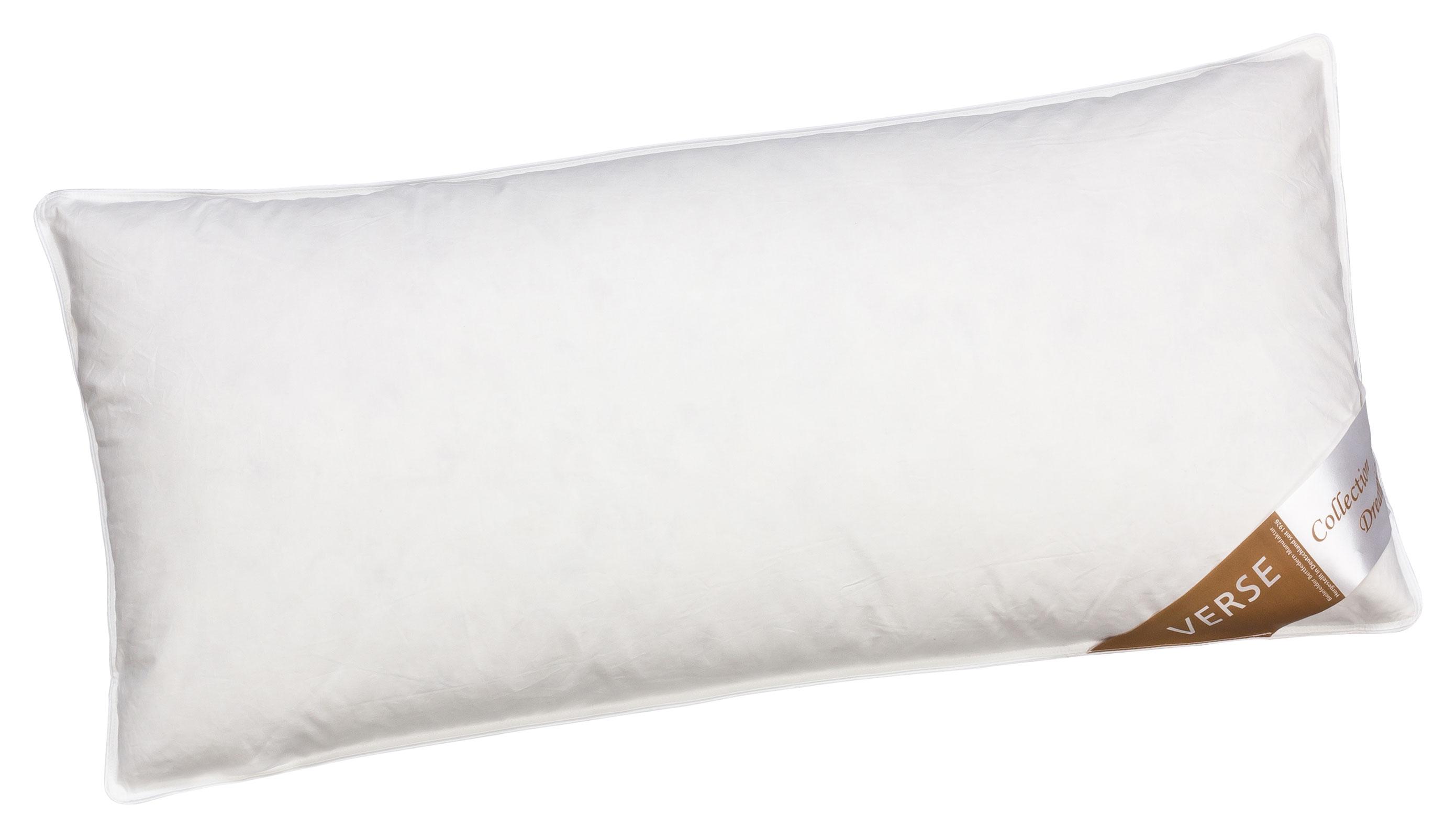 Bettdecken und Kopfkissen - Kopfkissen Daunen Kissen 40x80 fest 600g 90 Federn 10 Daunen Verse Collection Dreaming  - Onlineshop PremiumShop321