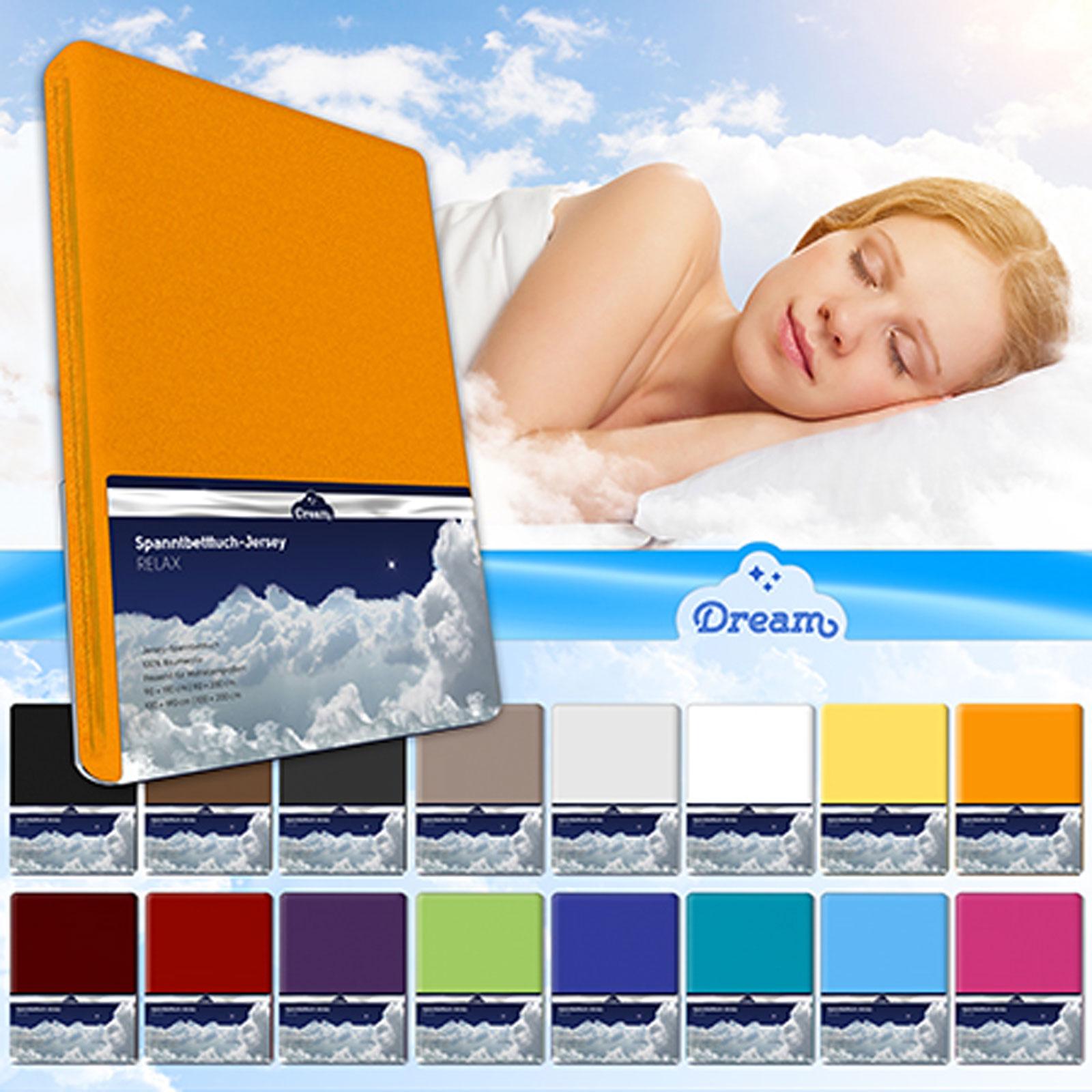 Bettwäsche - Spannbetttuch Jersey Baumwolle DREAM 180x200 200x200 Spannbettlaken  - Onlineshop PremiumShop321