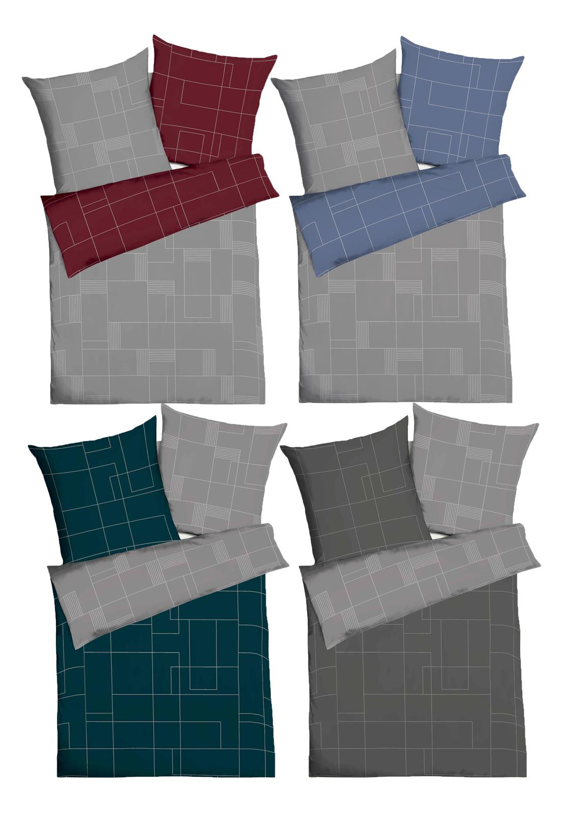 Bettwäsche - Kaeppel Mako Satin Bettwäsche 100 Baumwolle Uptown Aufbewahrungsbeutel  - Onlineshop PremiumShop321
