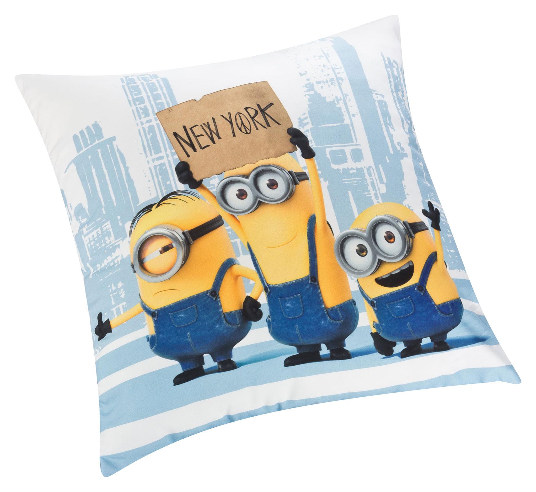 Wohndecken und Kissen - Minions Kissen Kuschelkissen Dekokissen New York 40x40 G95 950 MI38 100  - Onlineshop PremiumShop321