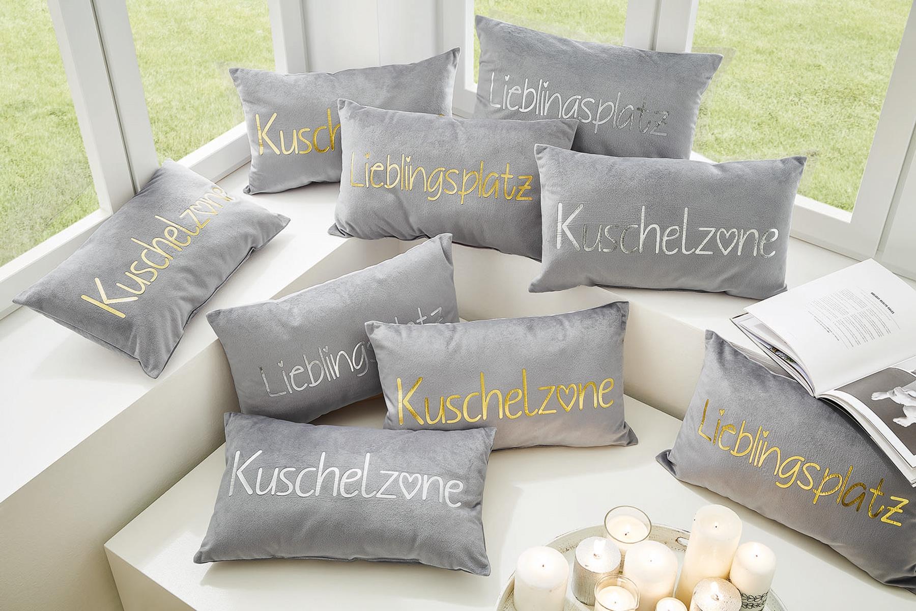 Wohndecken und Kissen - Sun Garden Dekokissen Kuschelkissen Samt Optik Kuschelzone 30x50 cm incl. Füllung  - Onlineshop PremiumShop321