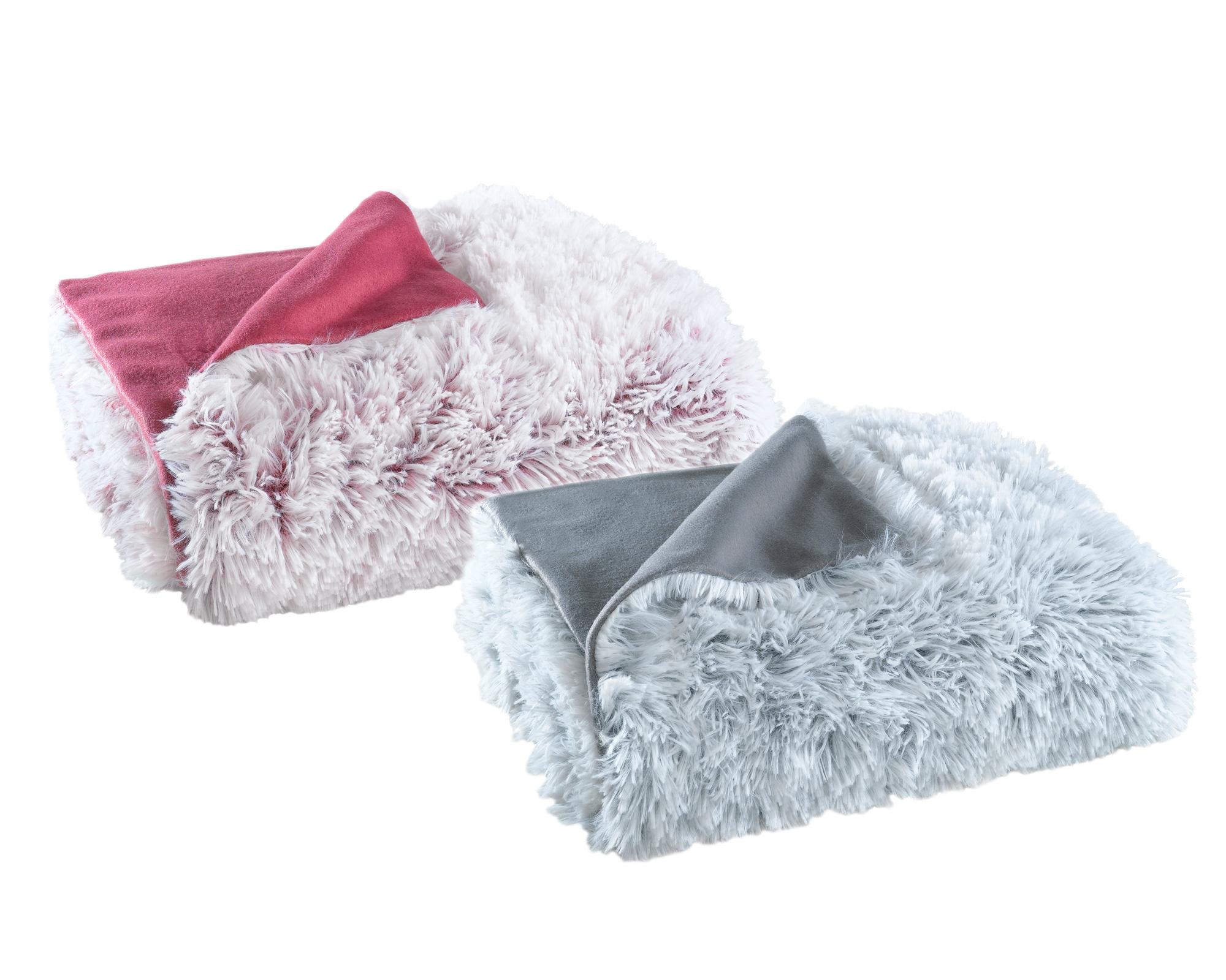 Wohndecken und Kissen - Kuscheldecke Flokati Fleece flauschig warm und weich 150x200  - Onlineshop PremiumShop321